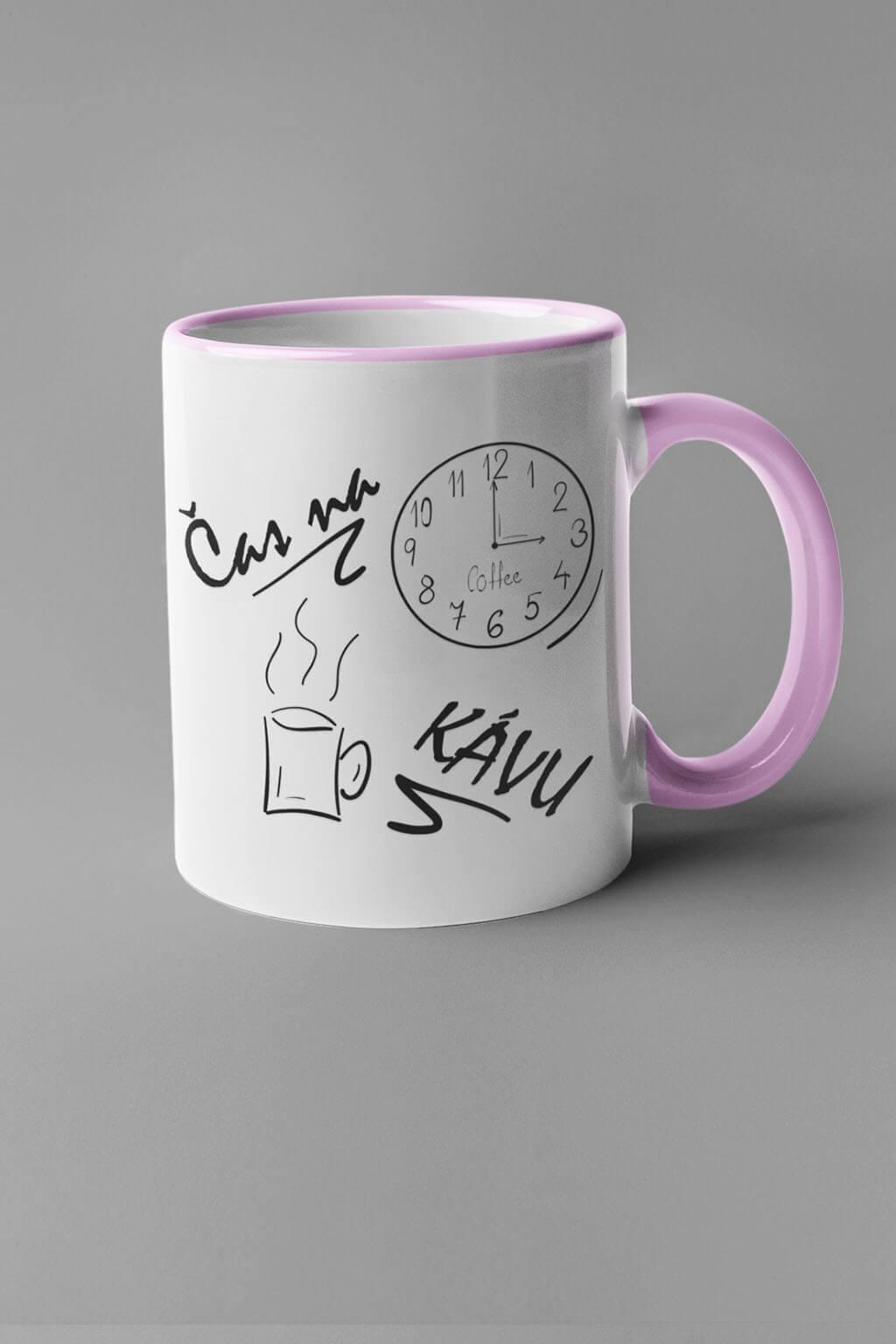 MMO Šálka je čas na kávu Farba šálky: Ružová