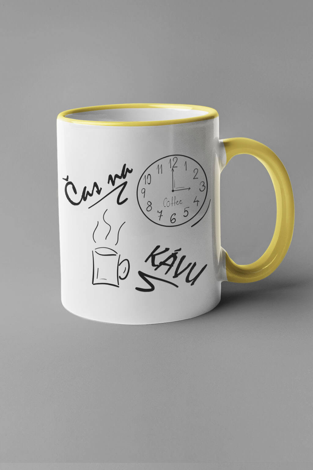 MMO Šálka je čas na kávu Farba šálky: Žltá