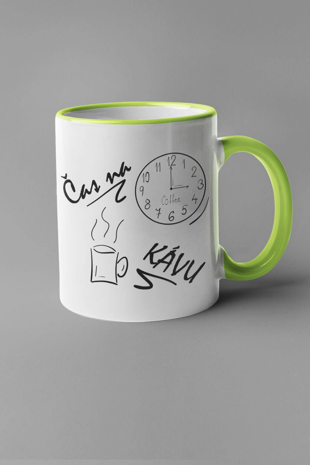 MMO Šálka je čas na kávu Farba šálky: Zelená
