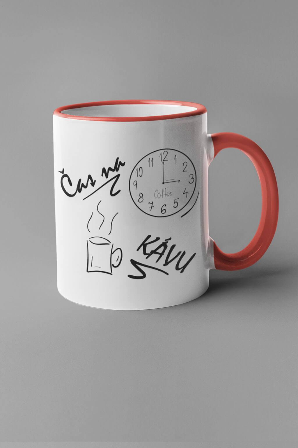 MMO Šálka je čas na kávu Farba šálky: Červená