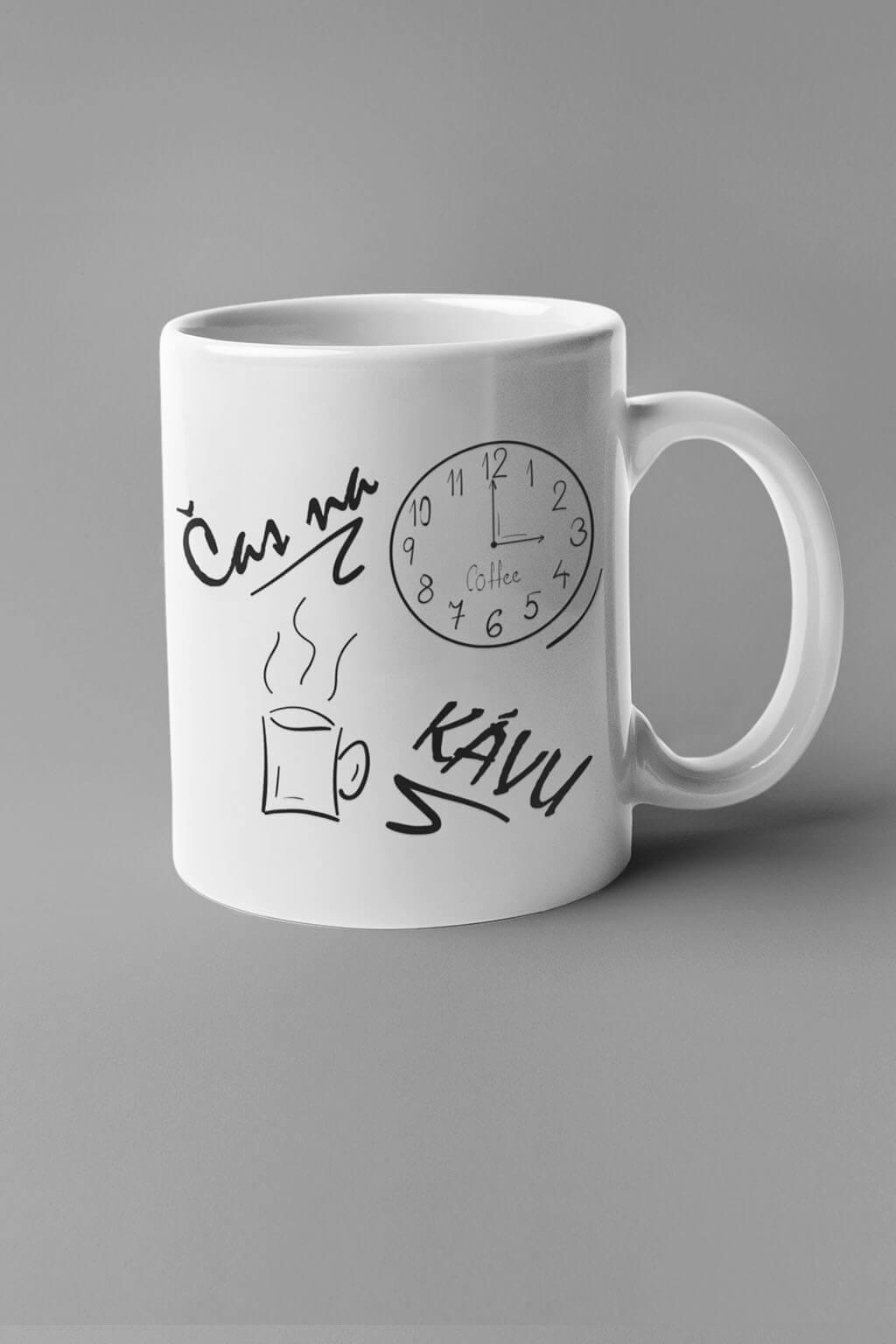 MMO Šálka je čas na kávu Farba šálky: Biela