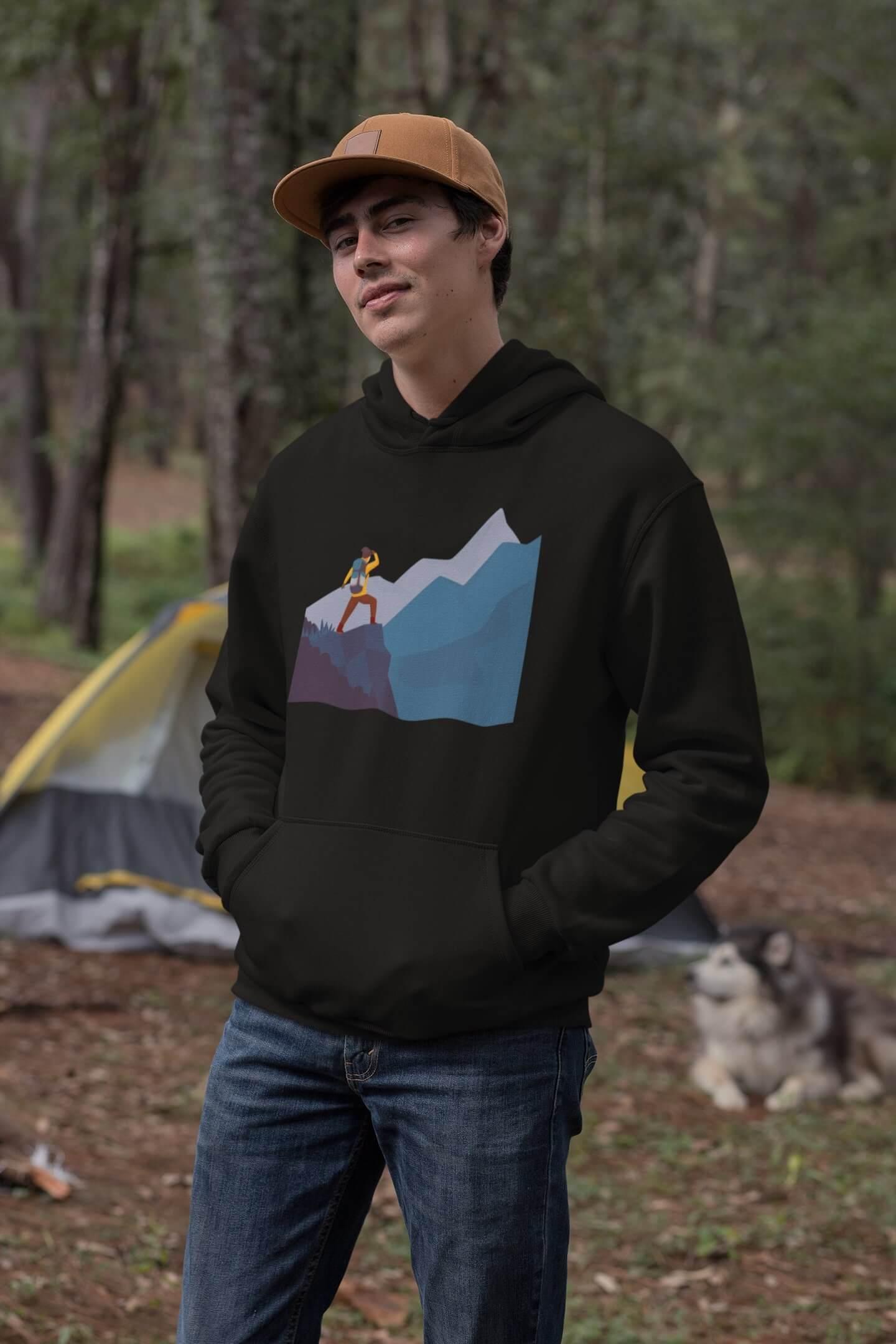 MMO Pánska mikina s kapucňou adventure Vyberte farbu: Čierna, Vyberte veľkosť: XL