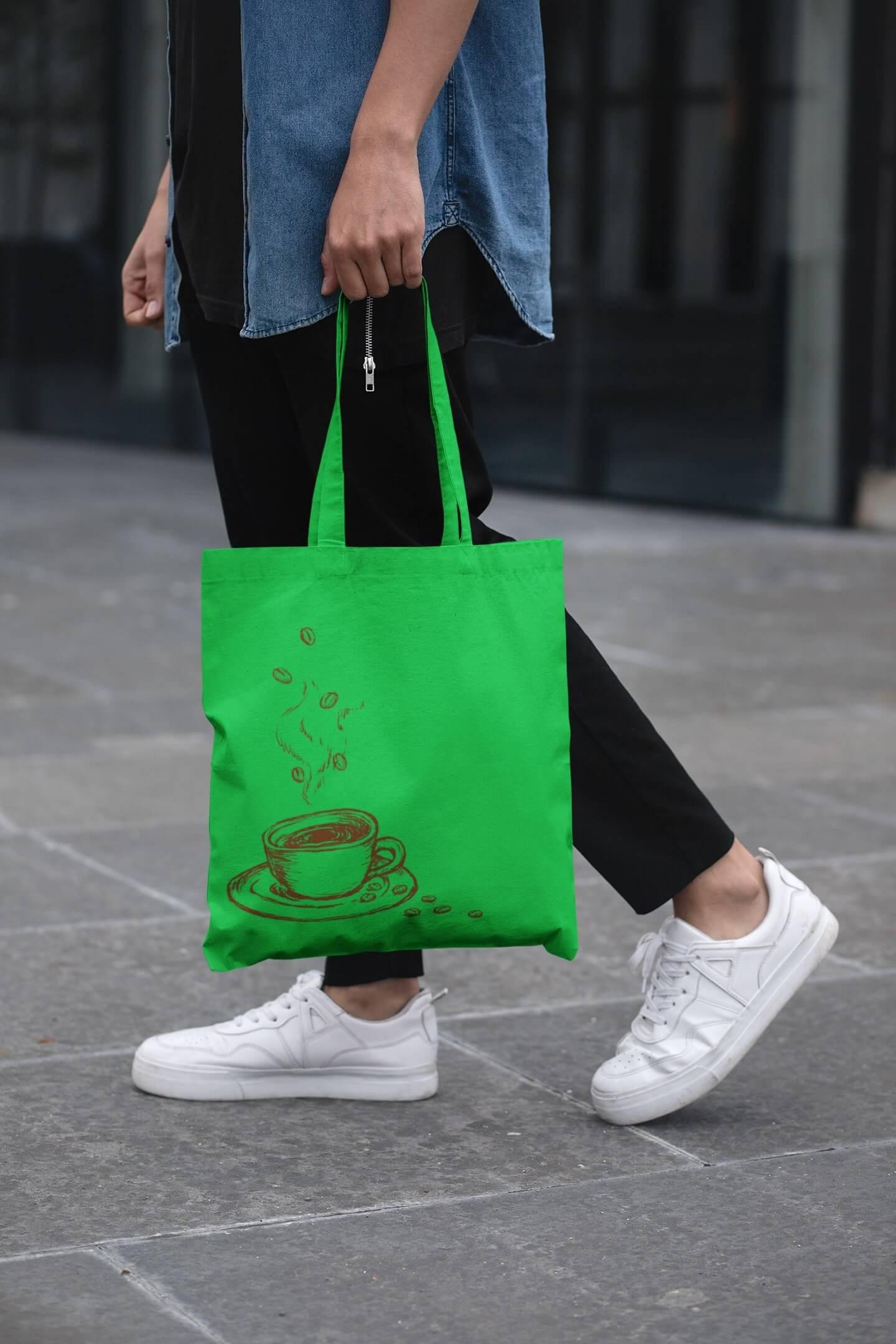 MMO Bavlnená taška Káva Farba tašky: Jablková