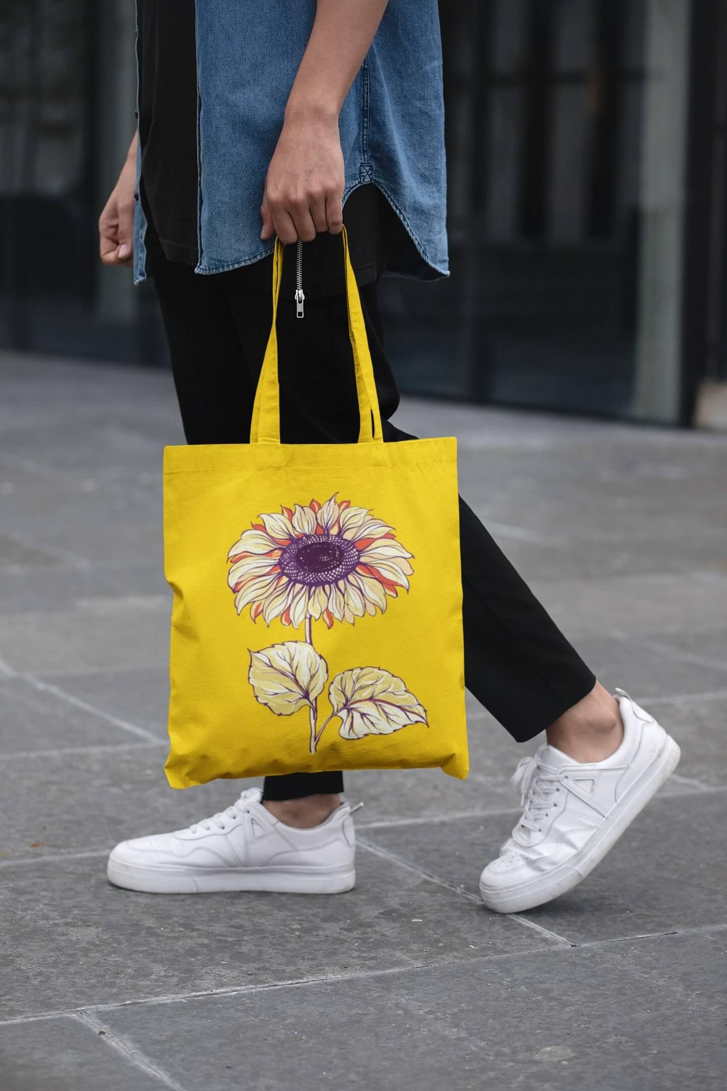 MMO Bavlnená taška Slnečnica Farba tašky: Žltá