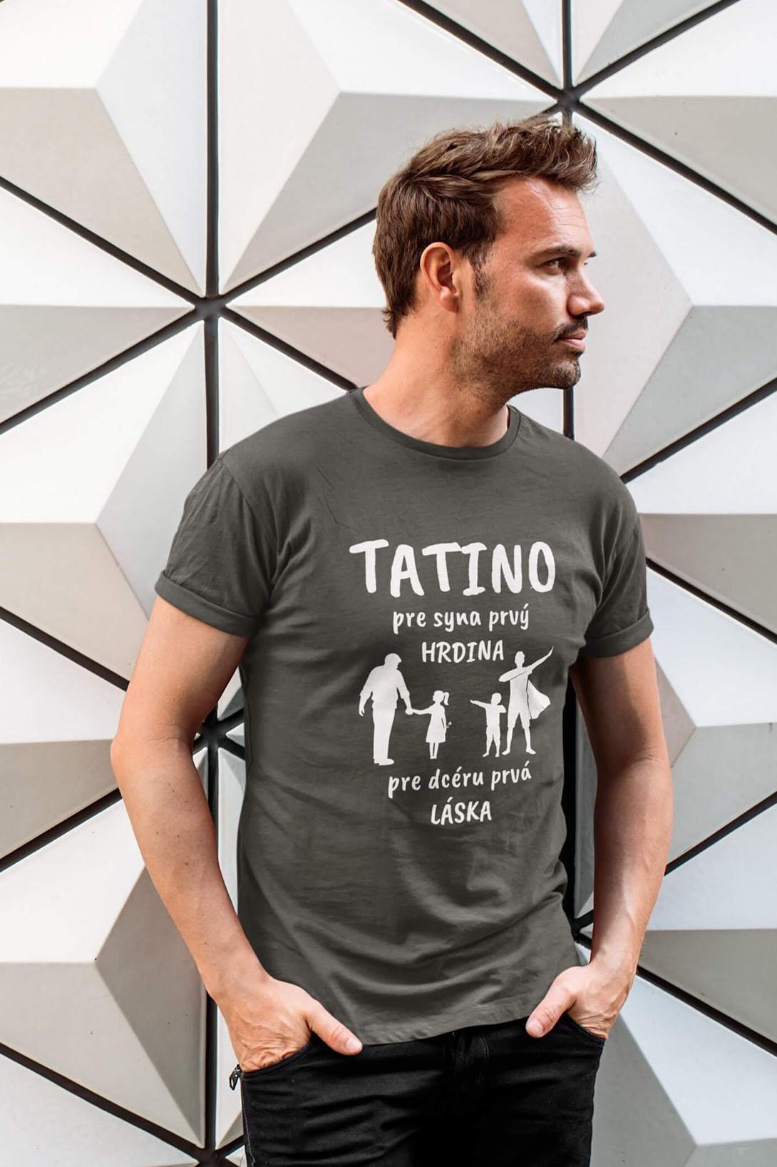 MMO Pánske tričko Tatino Vyberte farbu: Tmavá bridlica, Vyberte veľkosť: XL