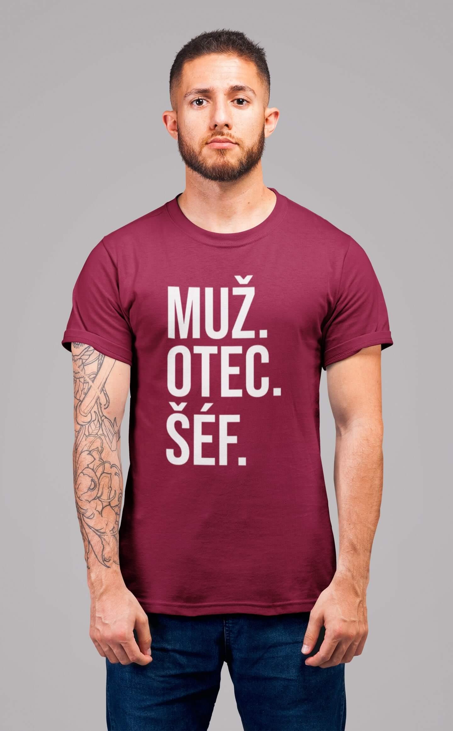 MMO Pánske tričko MUŽ Vyberte farbu: Marlboro červená, Vyberte veľkosť: S
