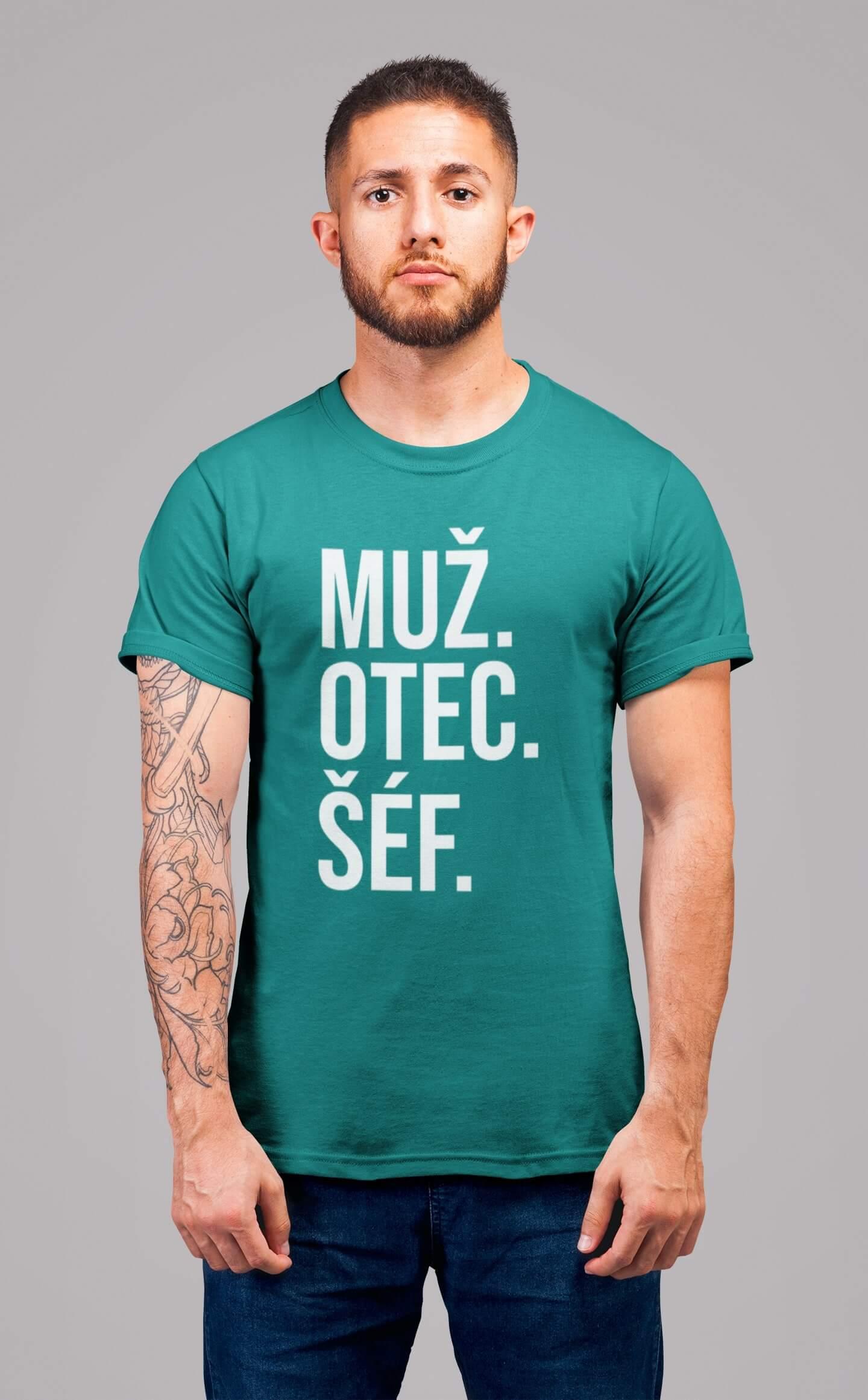 MMO Pánske tričko MUŽ Vyberte farbu: Smaragdovozelená, Vyberte veľkosť: S