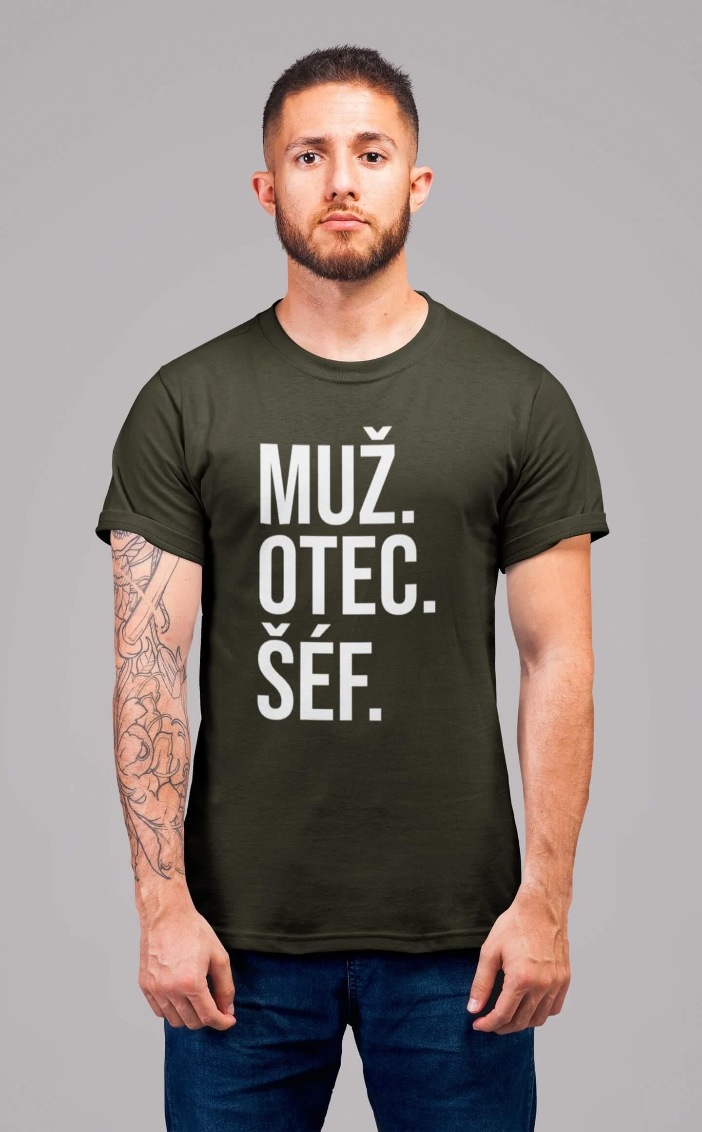 MMO Pánske tričko MUŽ Vyberte farbu: Military, Vyberte veľkosť: XS