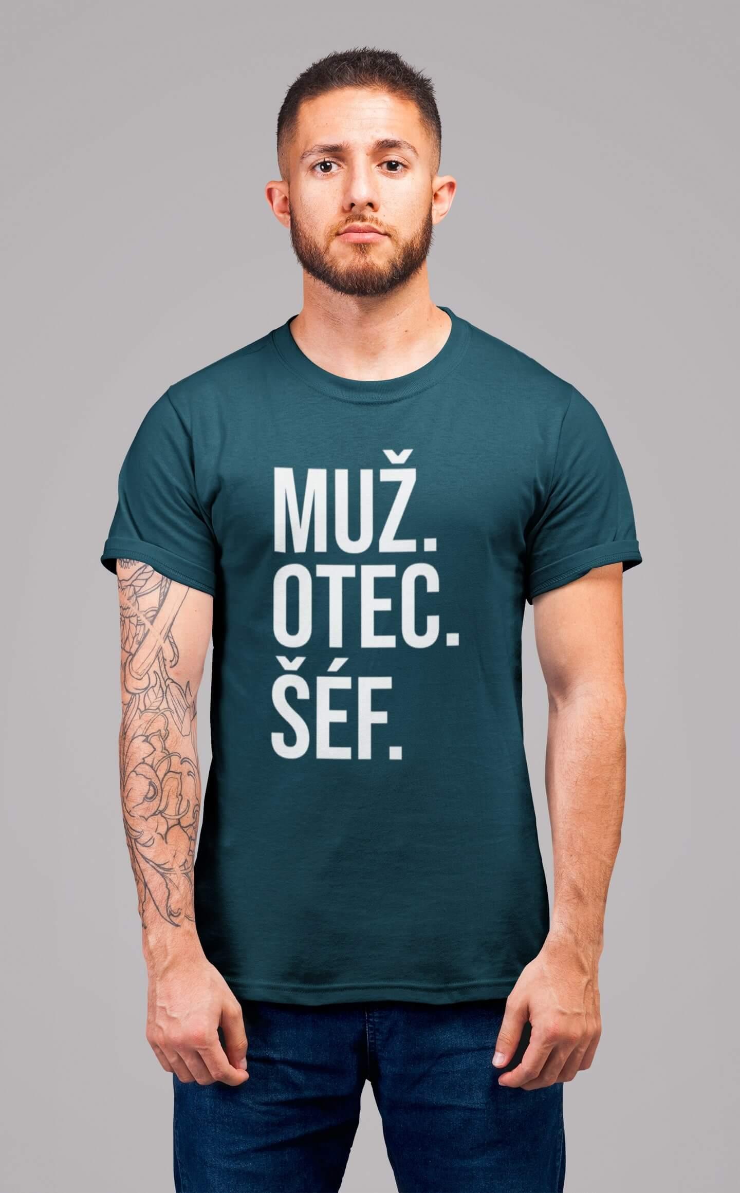 MMO Pánske tričko MUŽ Vyberte farbu: Petrolejová modrá, Vyberte veľkosť: S