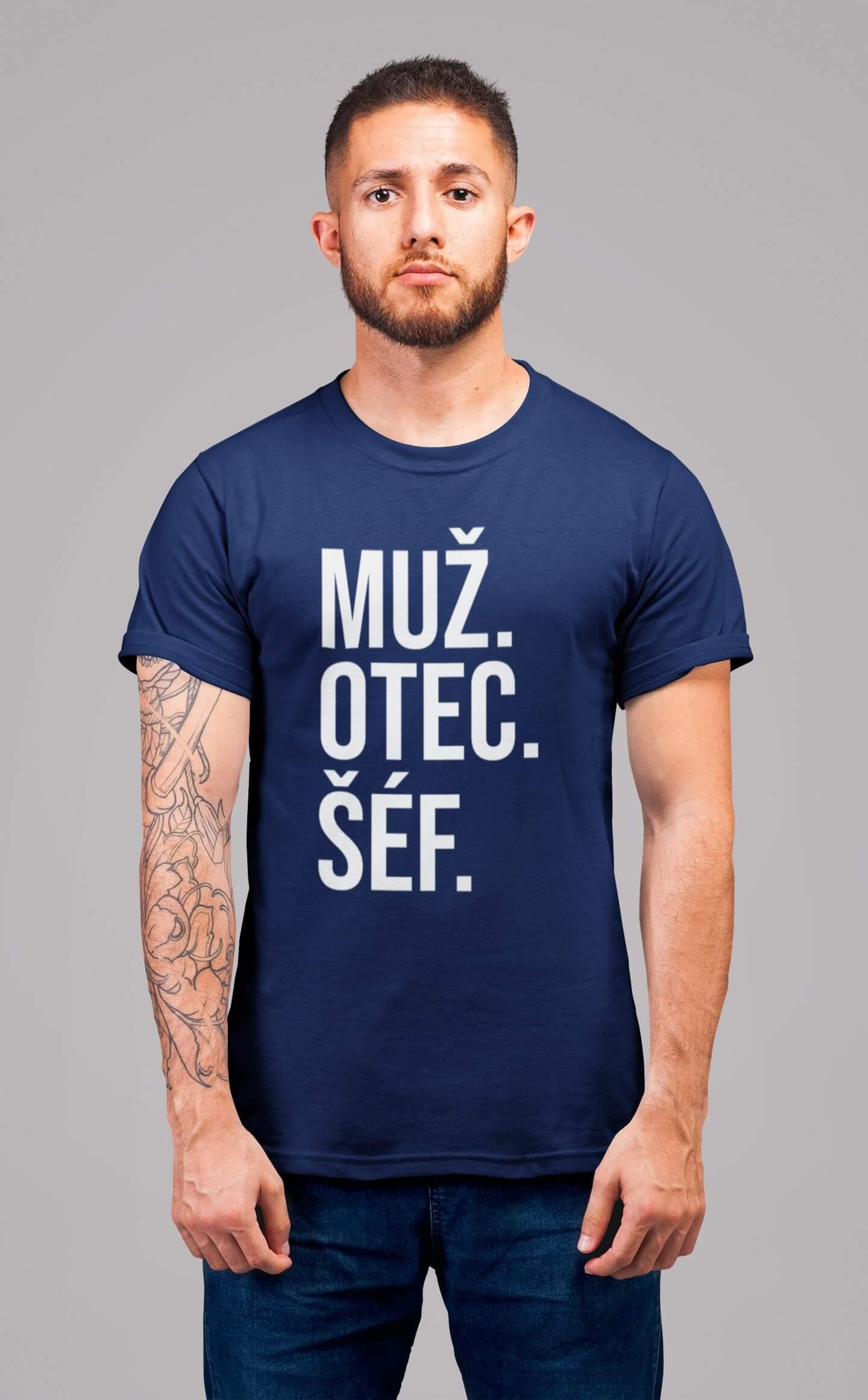 MMO Pánske tričko MUŽ Vyberte farbu: Polnočná modrá, Vyberte veľkosť: S