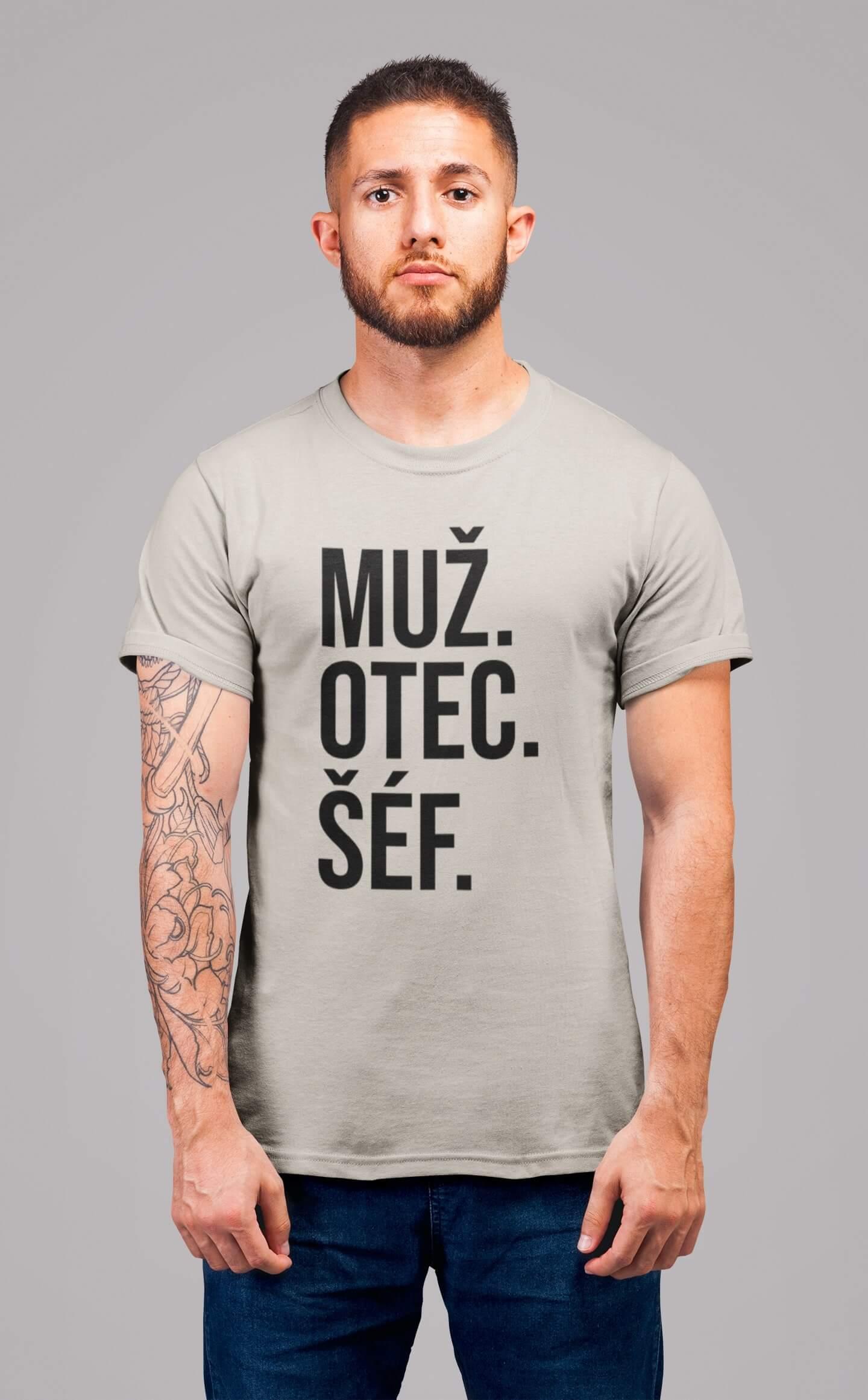 MMO Pánske tričko MUŽ Vyberte farbu: Ľadovo sivá, Vyberte veľkosť: S