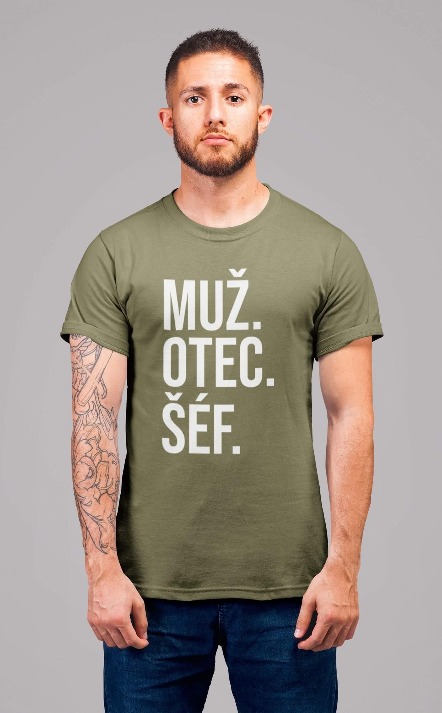 MMO Pánske tričko MUŽ Vyberte farbu: Svetlá khaki, Vyberte veľkosť: S