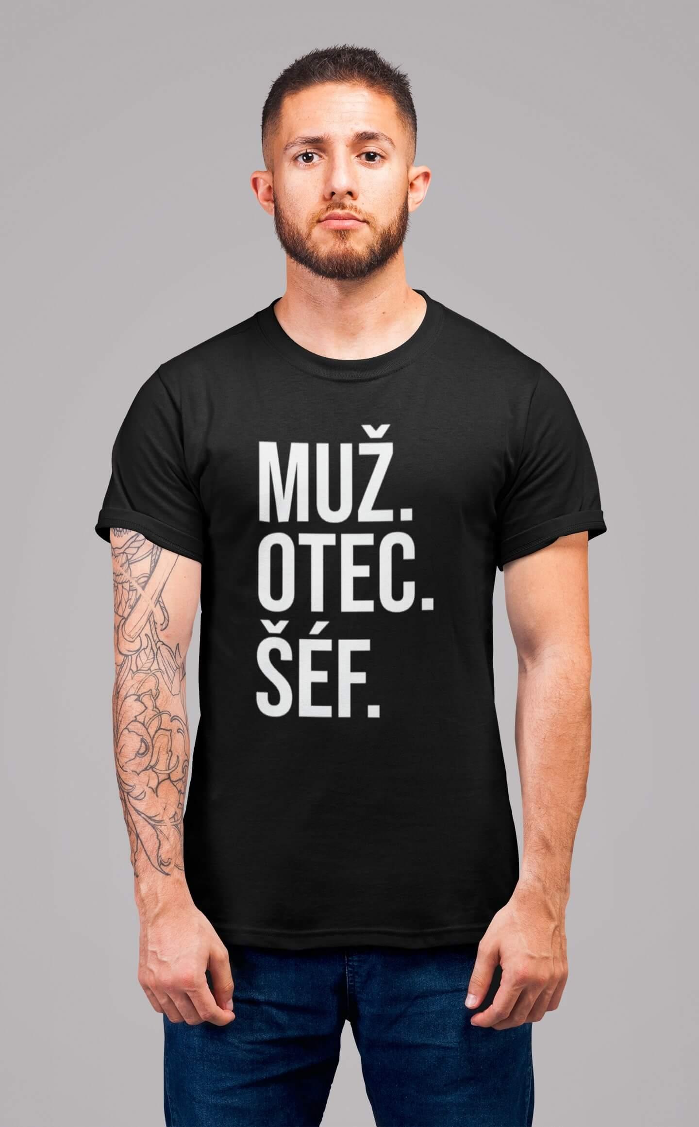 MMO Pánske tričko MUŽ Vyberte farbu: Čierna, Vyberte veľkosť: S
