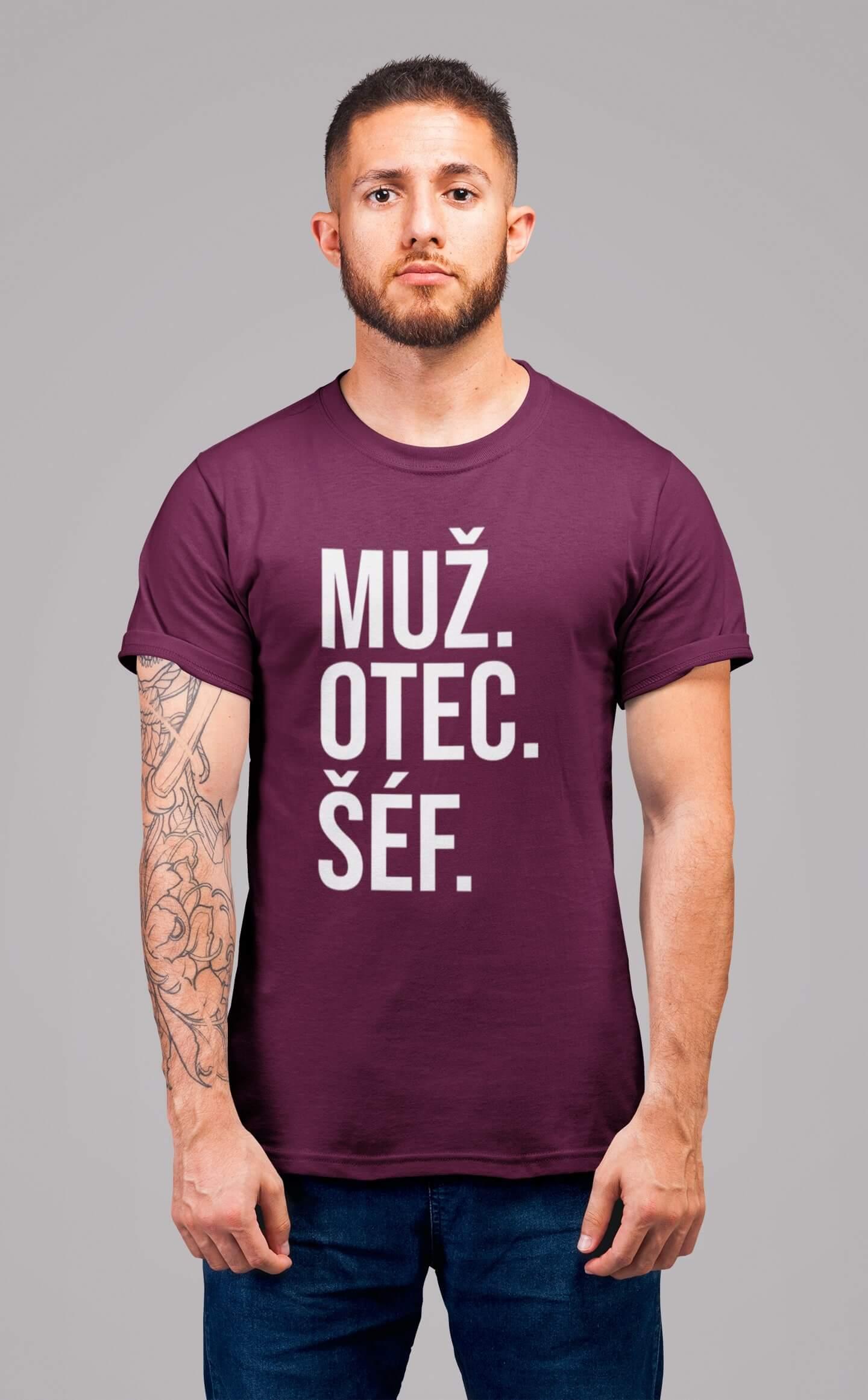 MMO Pánske tričko MUŽ Vyberte farbu: Fuchsiová, Vyberte veľkosť: S