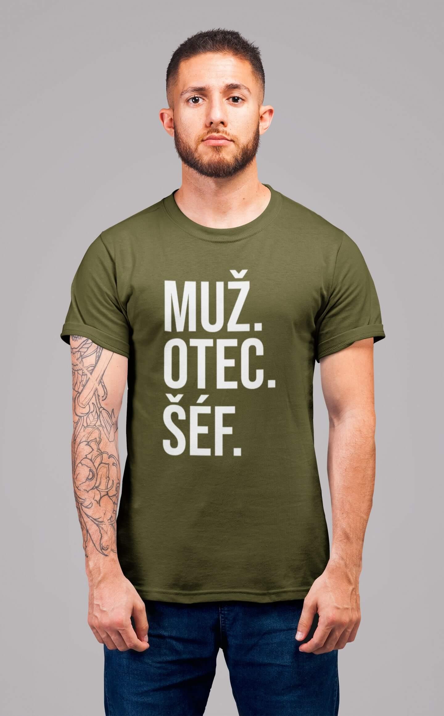 MMO Pánske tričko MUŽ Vyberte farbu: Khaki, Vyberte veľkosť: S