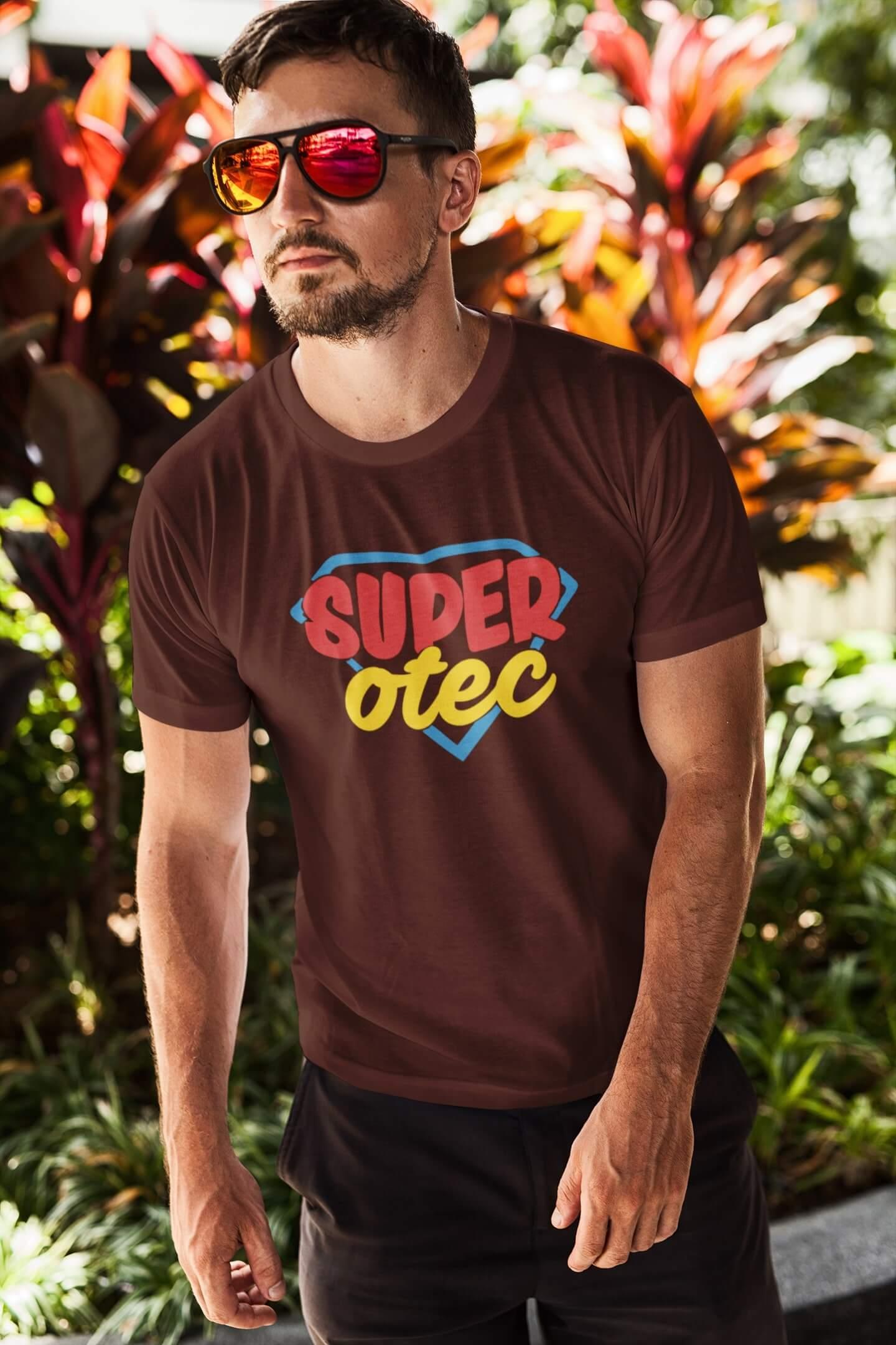 MMO Pánske tričko Superotec Vyberte farbu: Čokoládová, Vyberte veľkosť: XL