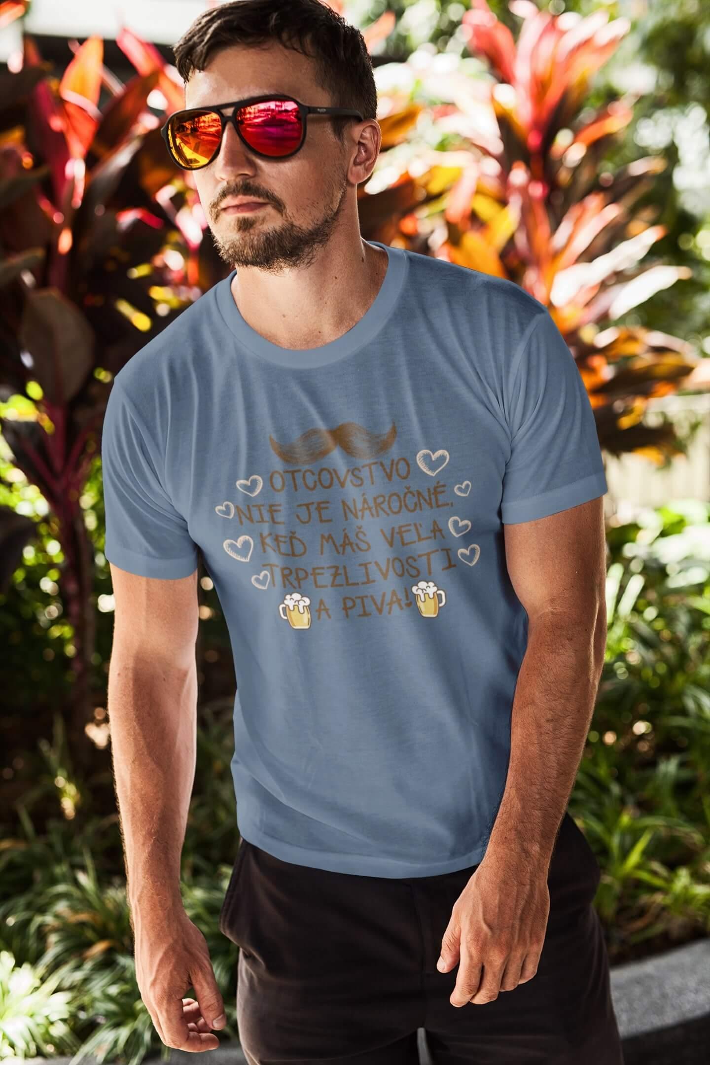 MMO Pánske tričko Otcovstvo Vyberte farbu: Denim, Vyberte veľkosť: XS