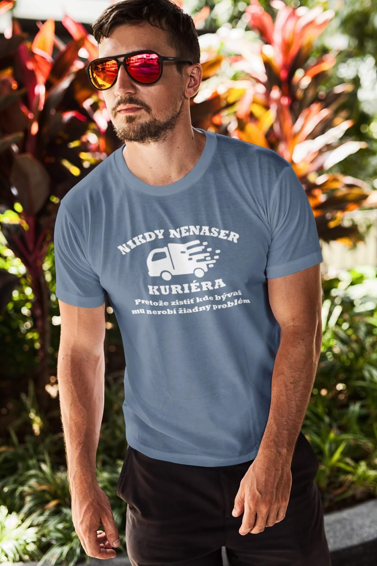 MMO Pánske tričko Kurier Vyberte farbu: Denim, Vyberte veľkosť: XS