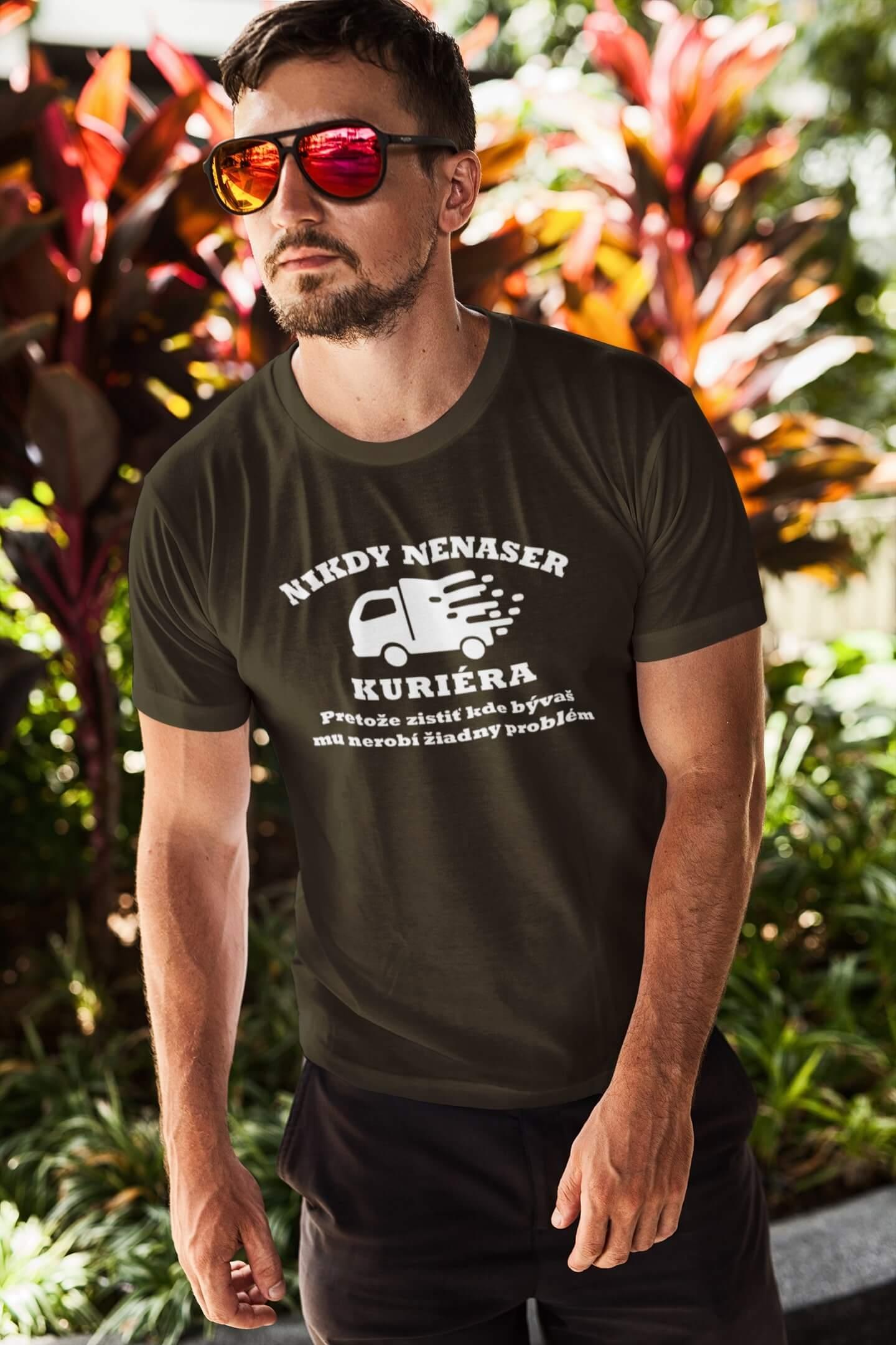MMO Pánske tričko Kurier Vyberte farbu: Military, Vyberte veľkosť: XS