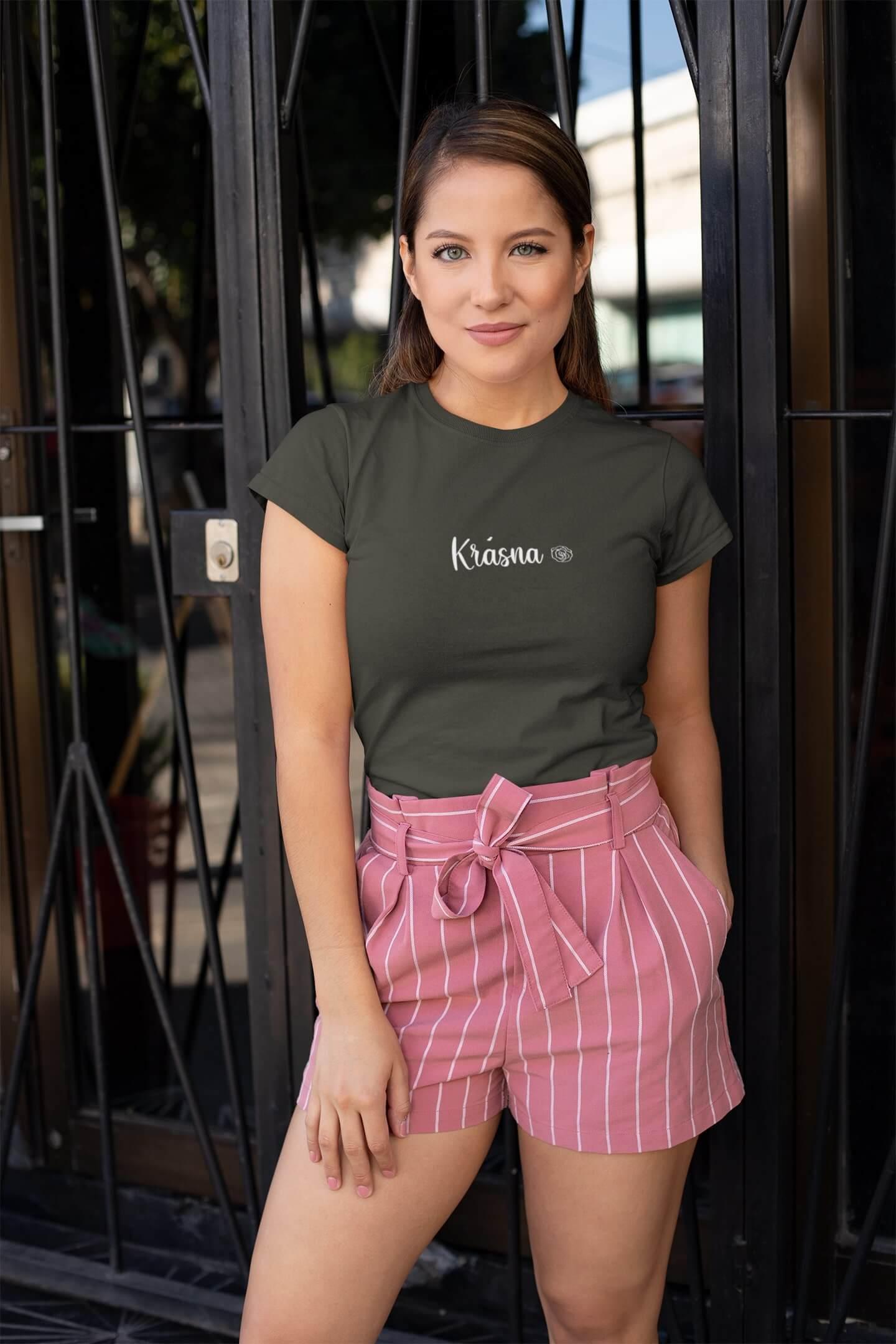 MMO Dámske tričko Krásna Vyberte farbu: Červená, Dámska veľkosť: S