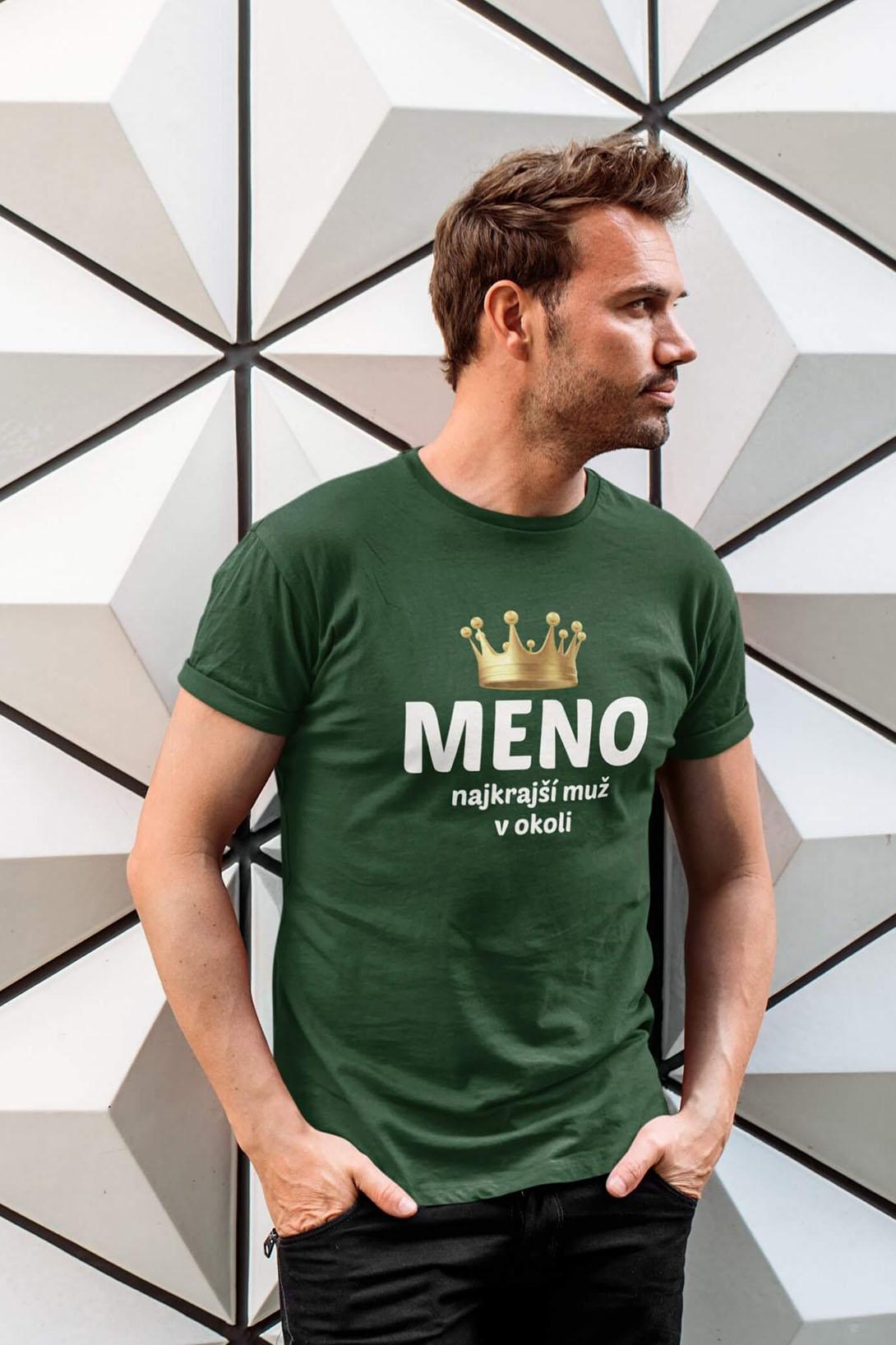 MMO Pánske tričko Najkrajší muž v okolí Vyberte farbu: Čierna, Vyberte veľkosť: S