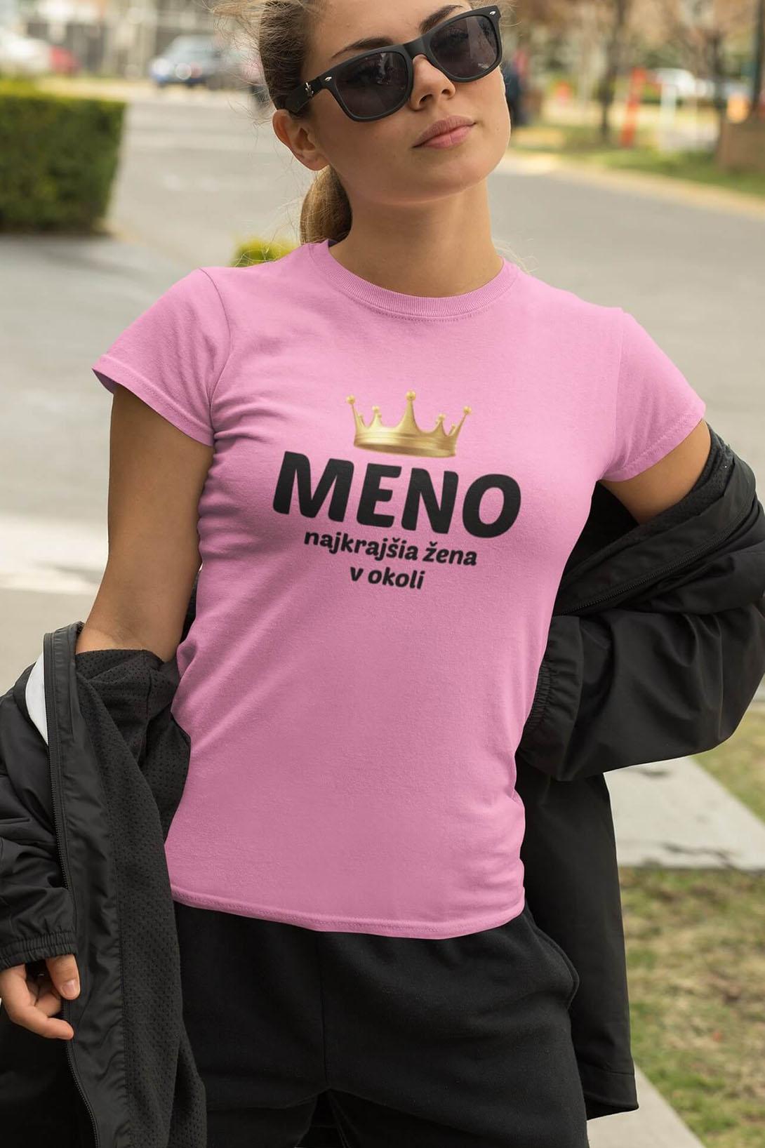 MMO Dámske tričko Najkrajšia žena v okolí Vyberte farbu: Smaragdovozelená, Vyberte veľkosť: M