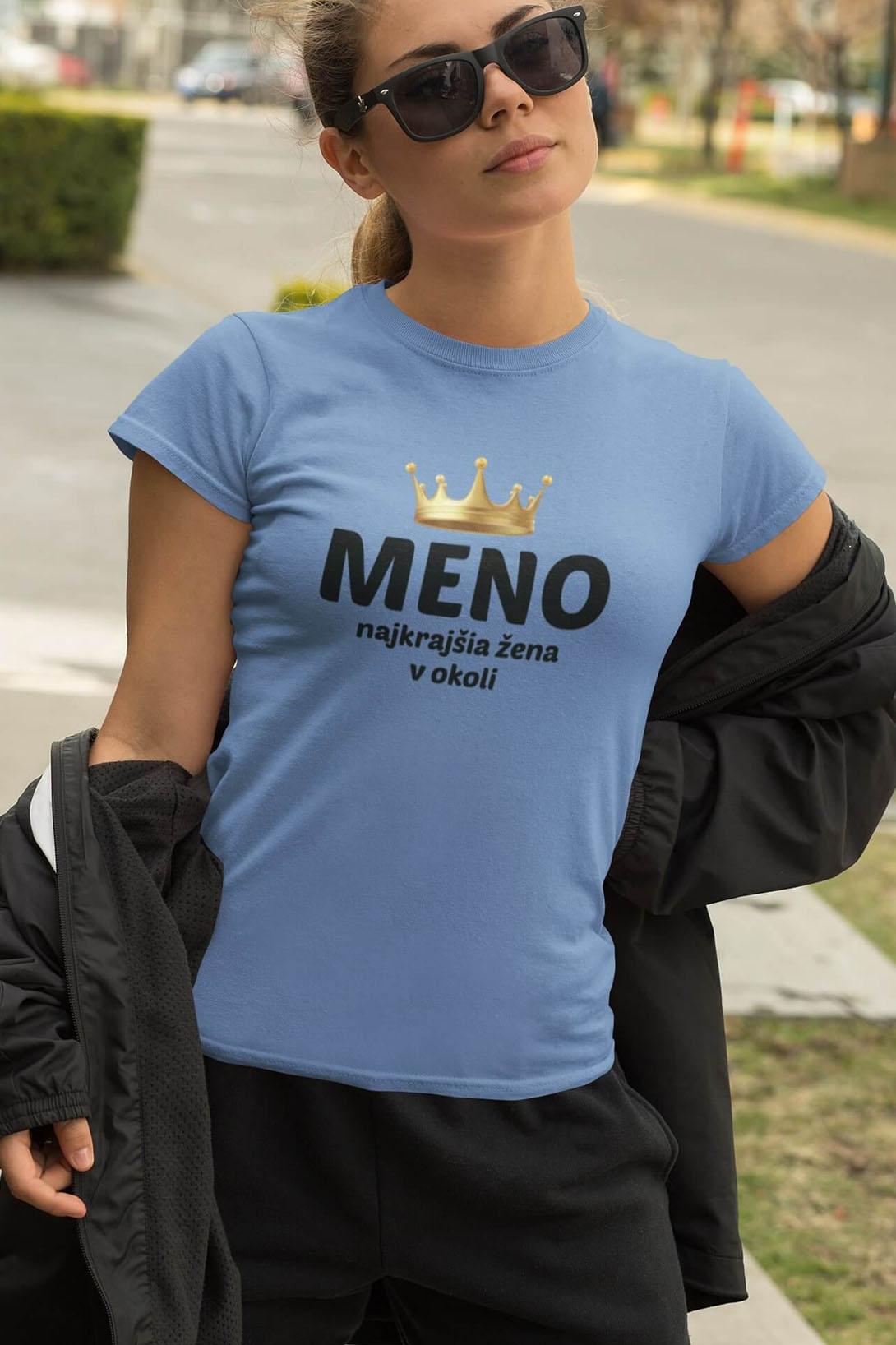 MMO Dámske tričko Najkrajšia žena v okolí Vyberte farbu: Tmavá bridlica, Vyberte veľkosť: M