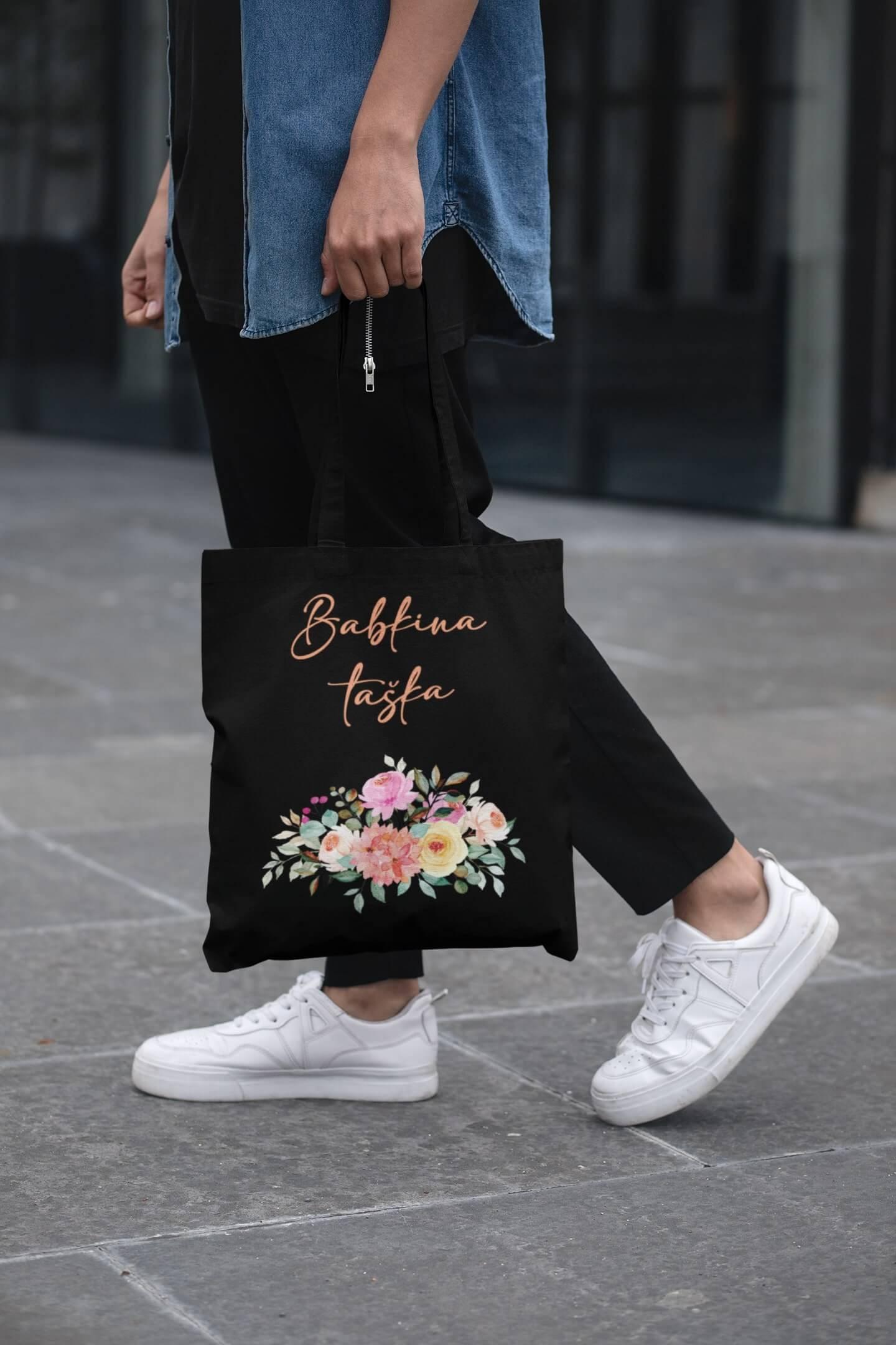 MMO Bavlnená taška Babkina taška Farba tašky: Čierna