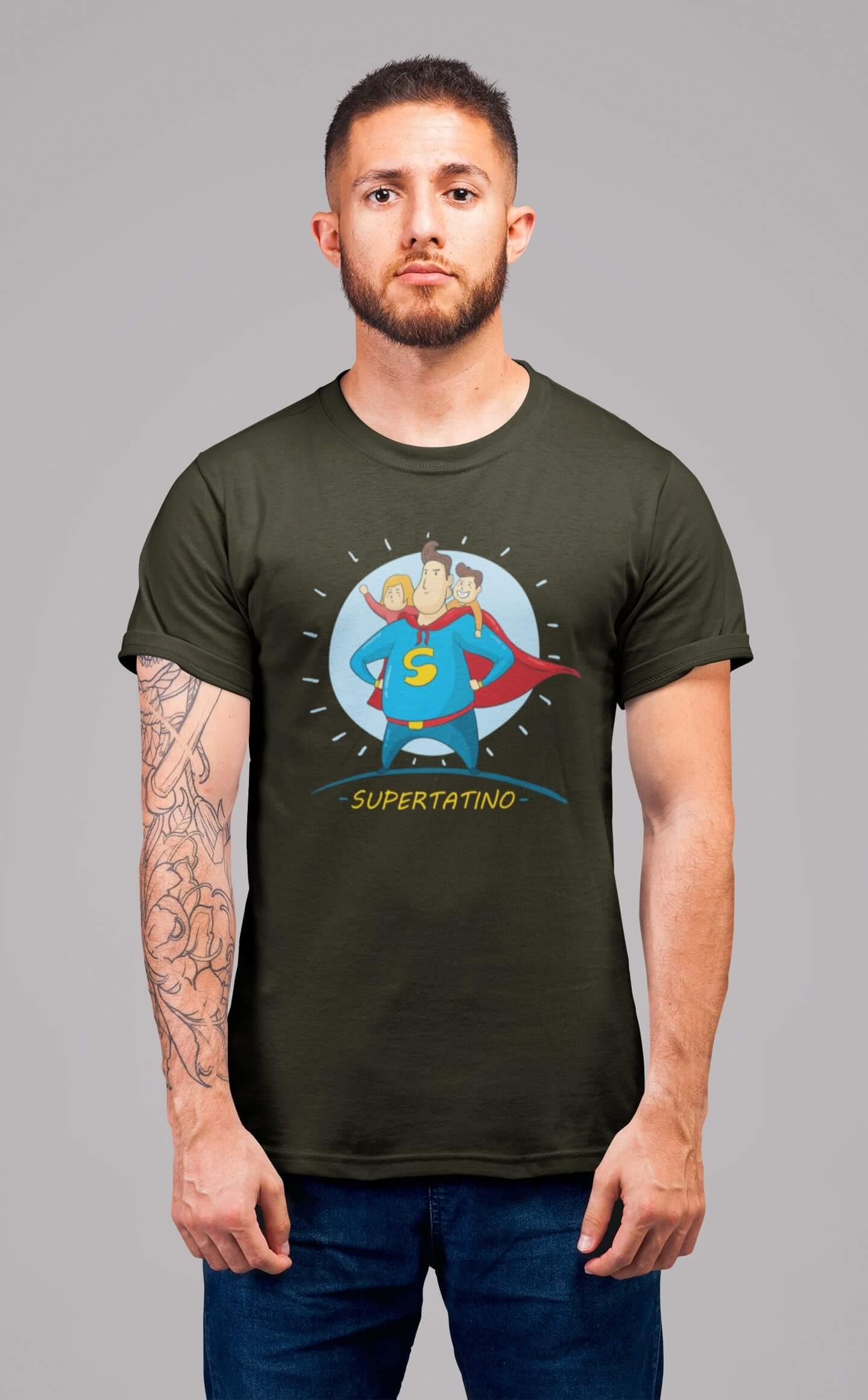 MMO Pánske tričko SUPERTATINO Vyberte farbu: Military, Vyberte veľkosť: XS
