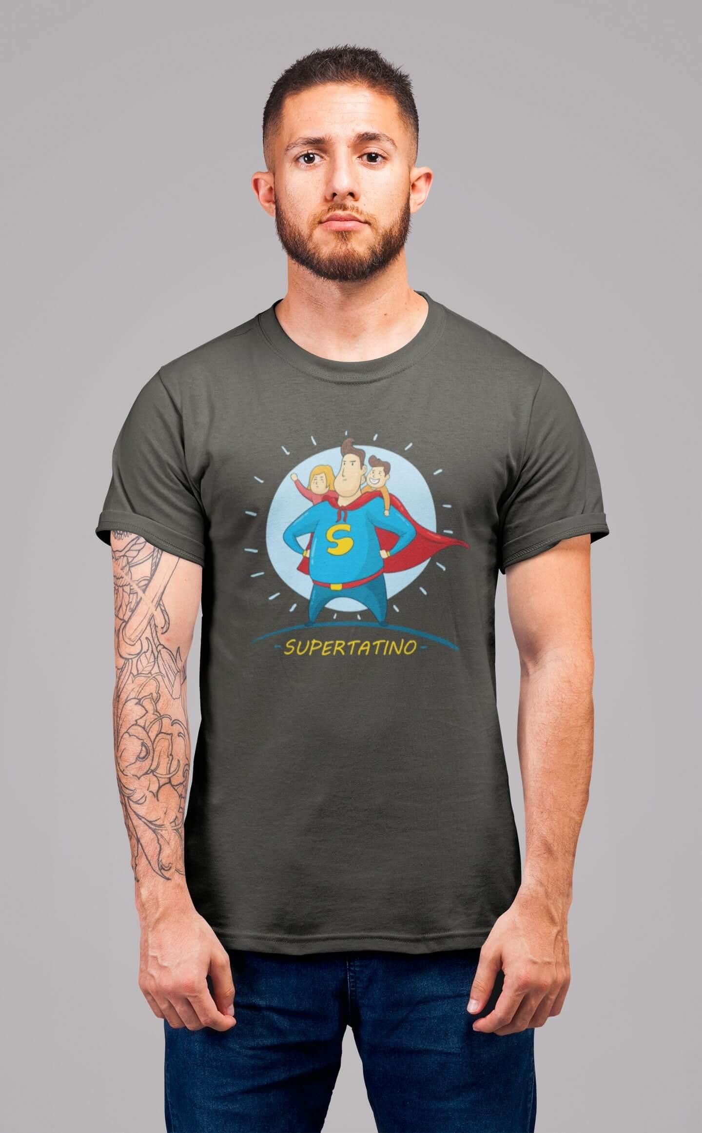 MMO Pánske tričko SUPERTATINO Vyberte farbu: Tmavá bridlica, Vyberte veľkosť: XL