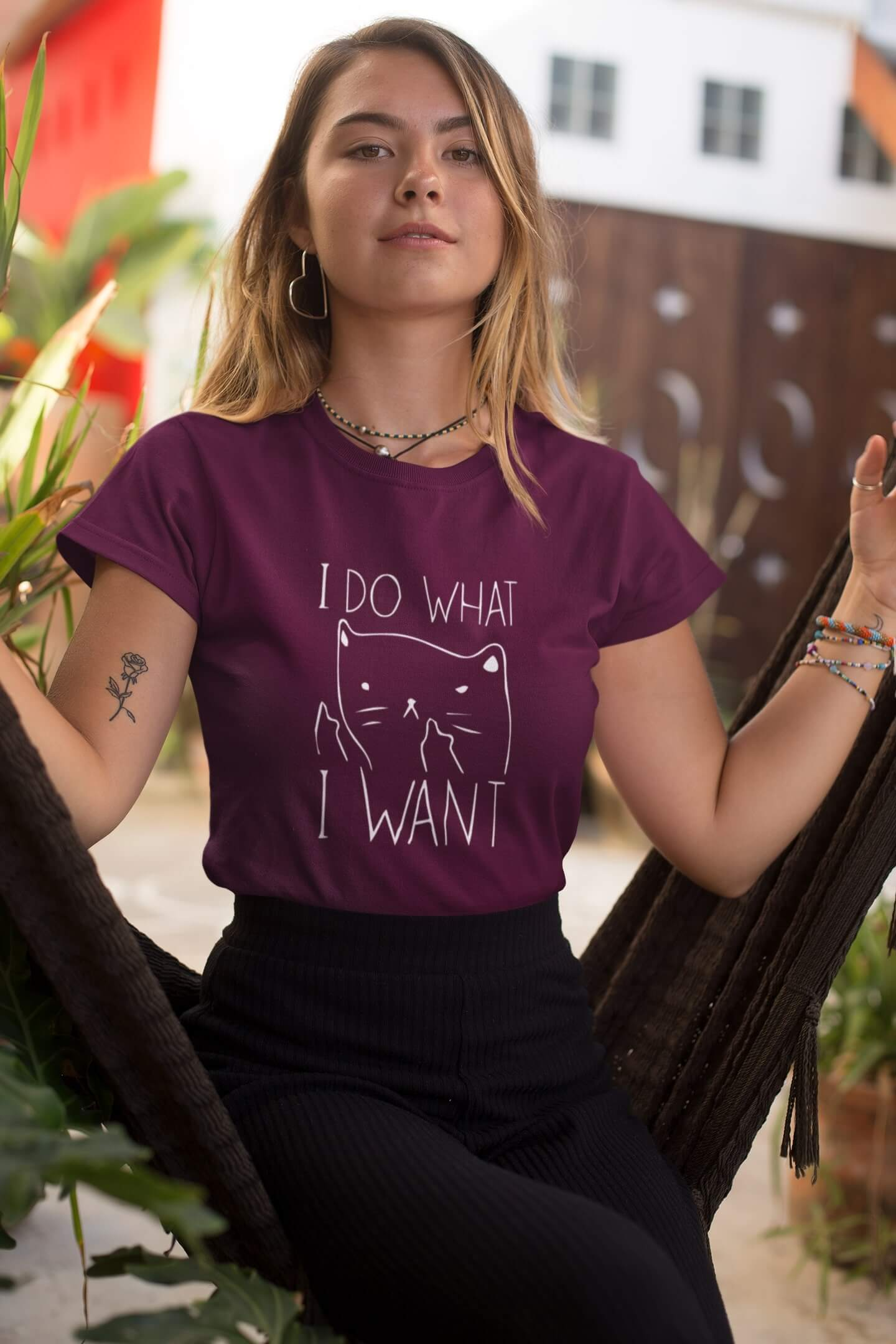 MMO Dámske tričko I DO WHAT I WANT Vyberte farbu: Fuchsiová, Vyberte veľkosť: M