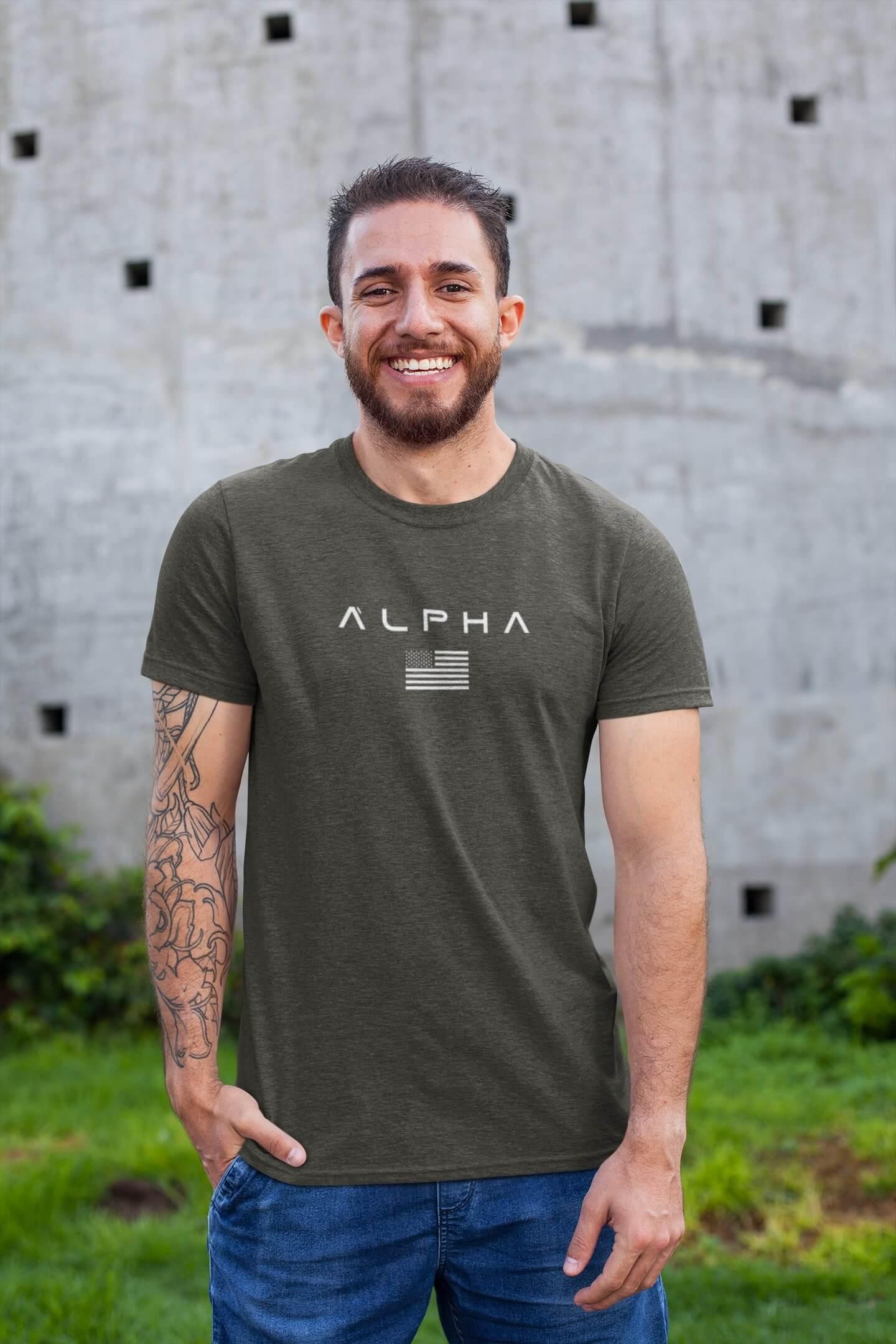 MMO Pánske tričko ALPHA Vyberte farbu: Tmavá bridlica, Vyberte veľkosť: XL