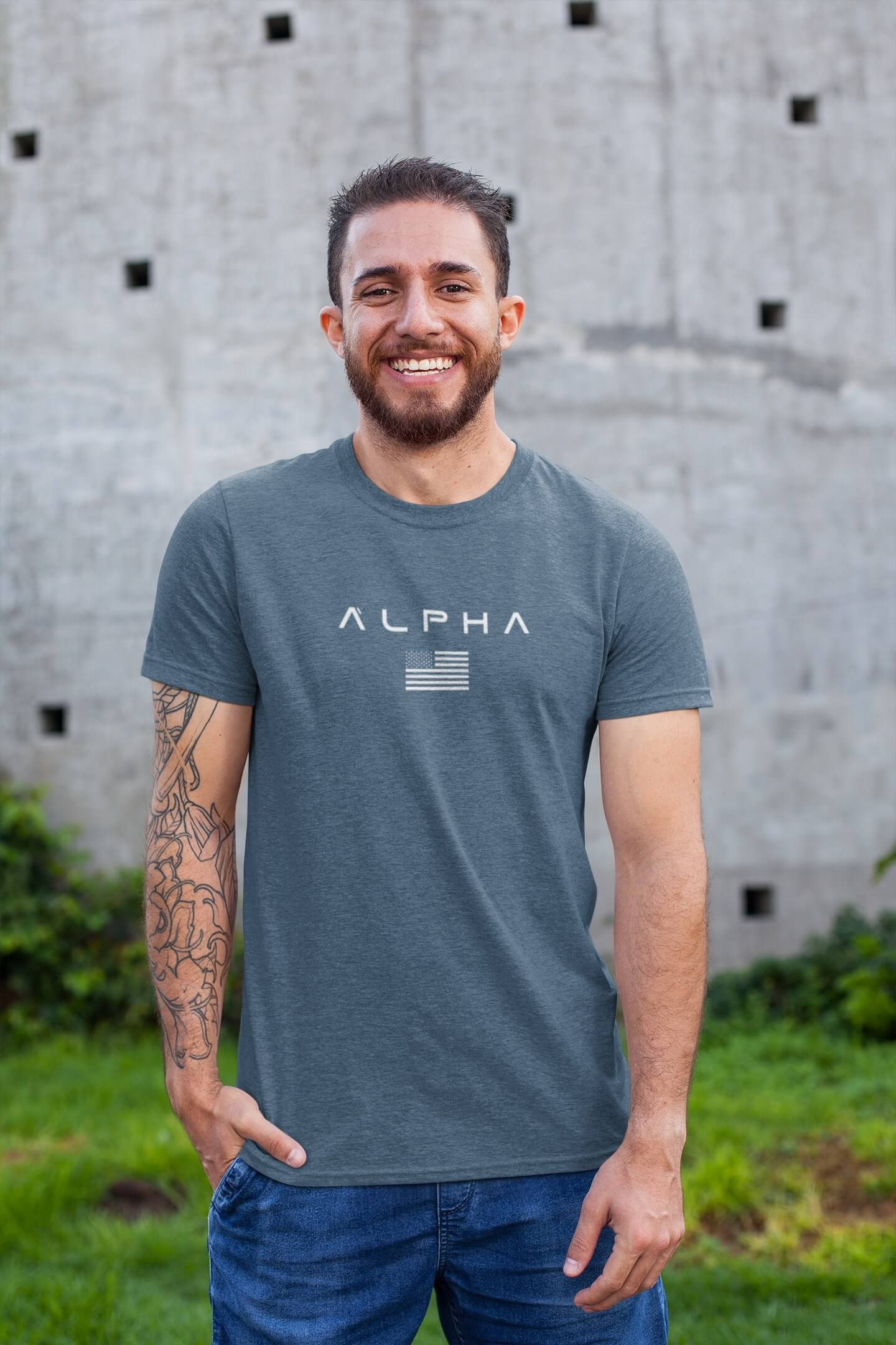 MMO Pánske tričko ALPHA Vyberte farbu: Denim, Vyberte veľkosť: XS