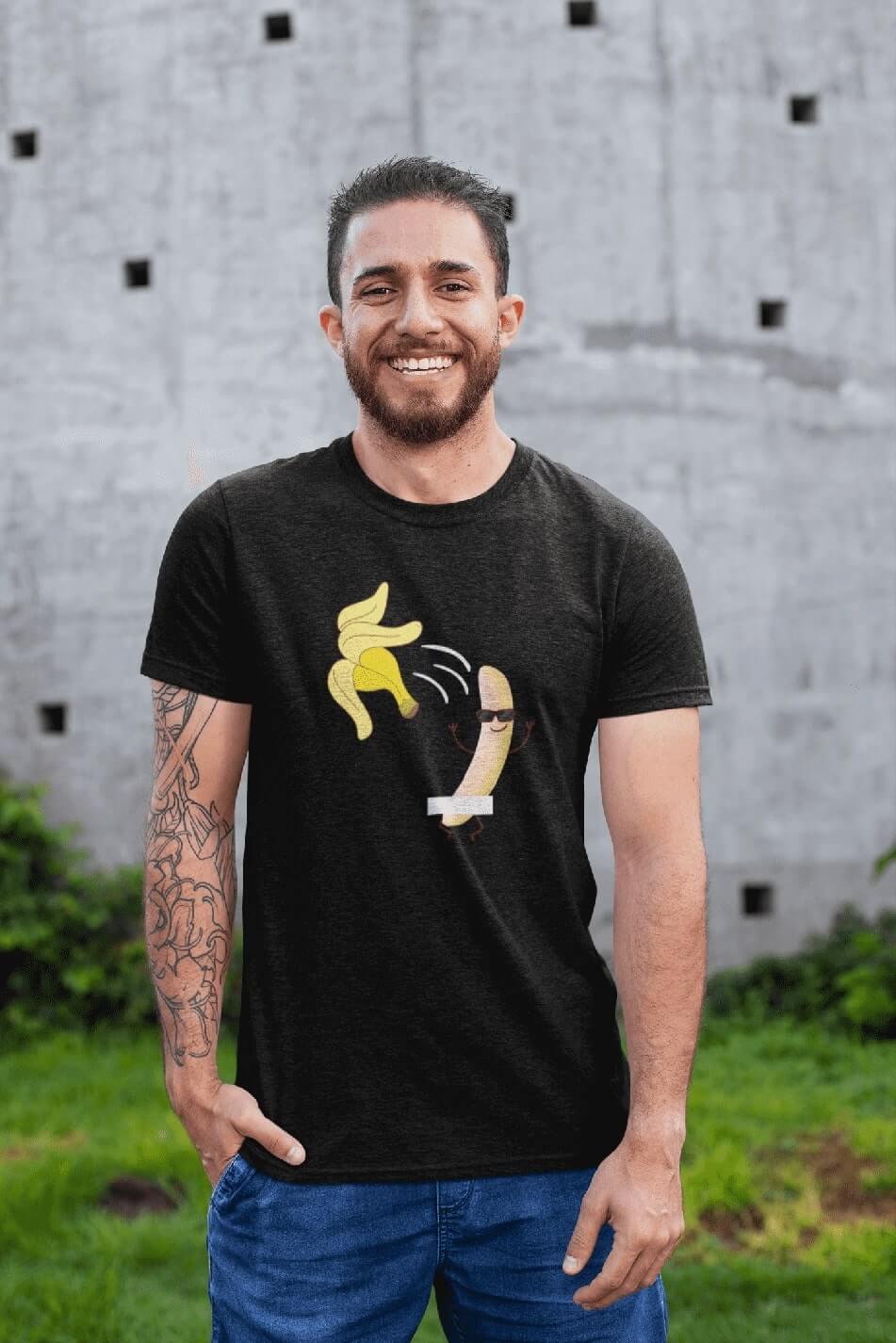 MMO Pánske tričko BANANA Vyberte farbu: Čierna, Vyberte veľkosť: XS