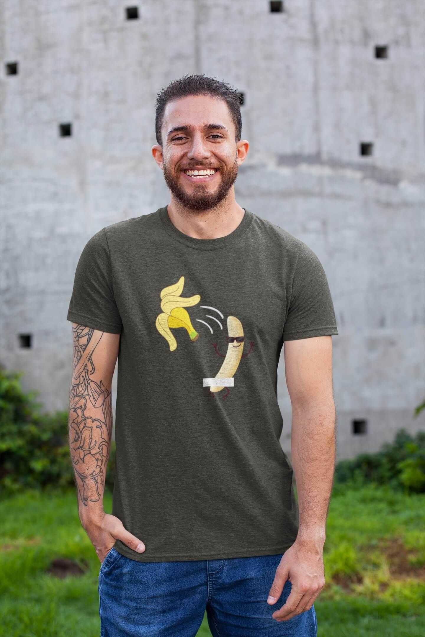 MMO Pánske tričko BANANA Vyberte farbu: Tmavá bridlica, Vyberte veľkosť: XL