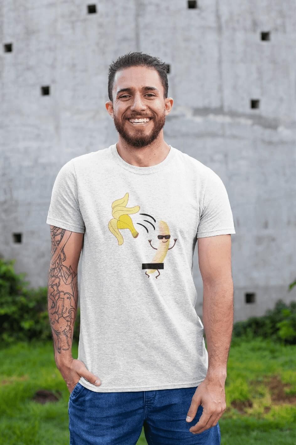 MMO Pánske tričko BANANA Vyberte farbu: Biela, Vyberte veľkosť: XS