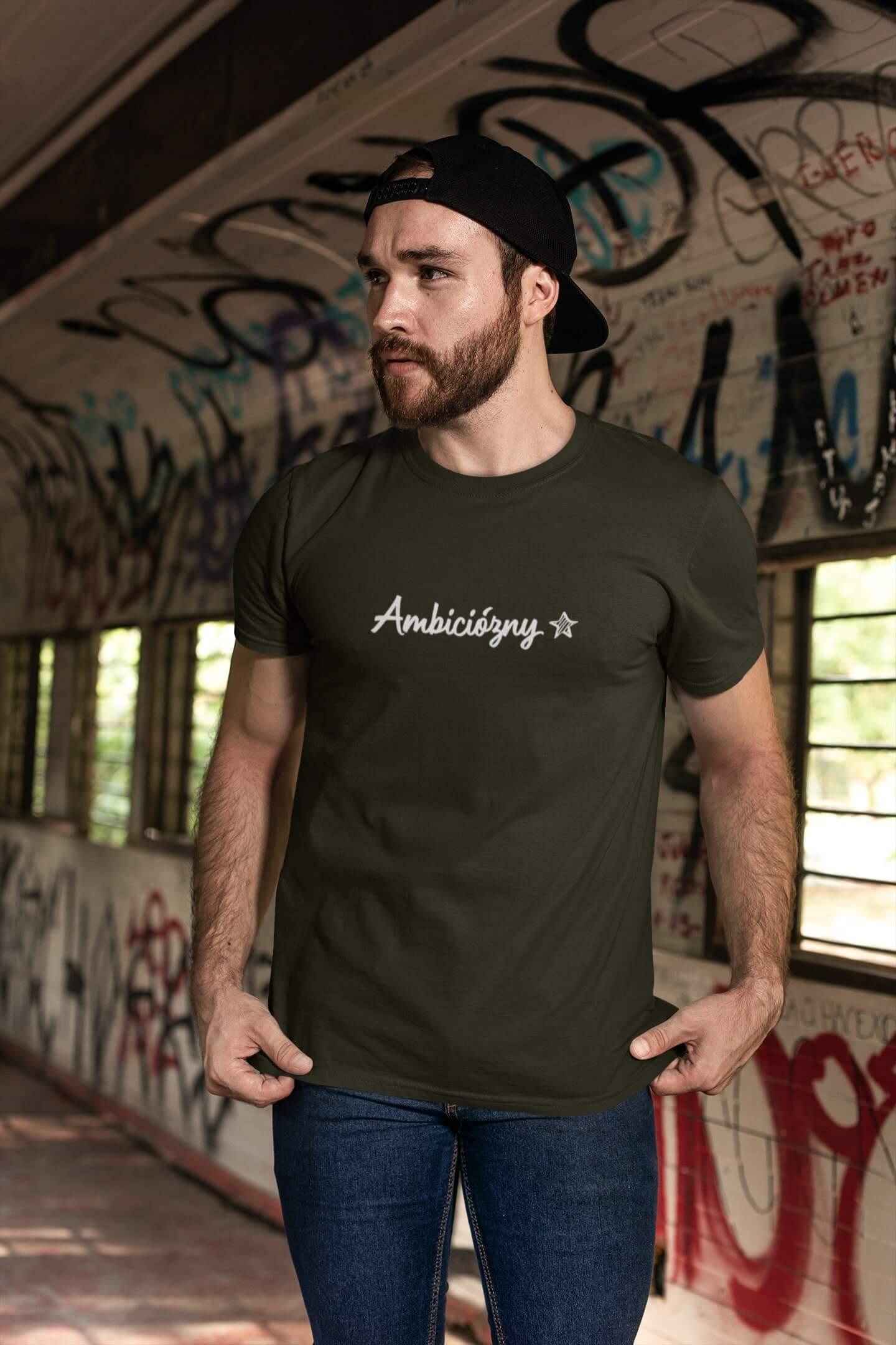 MMO Pánske tričko Ambiciózny Vyberte farbu: Military, Vyberte veľkosť: XS