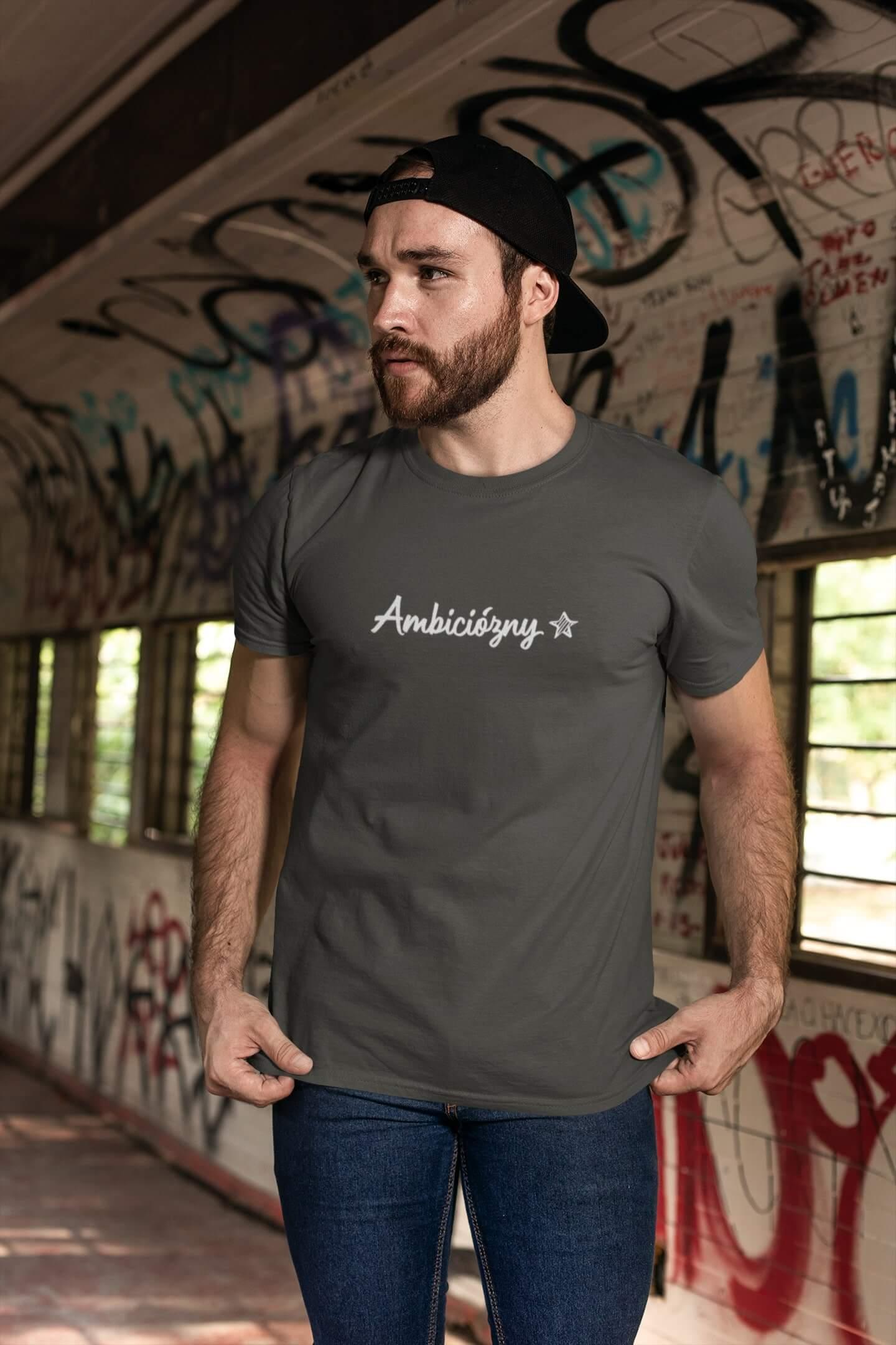 MMO Pánske tričko Ambiciózny Vyberte farbu: Tmavá bridlica, Vyberte veľkosť: L
