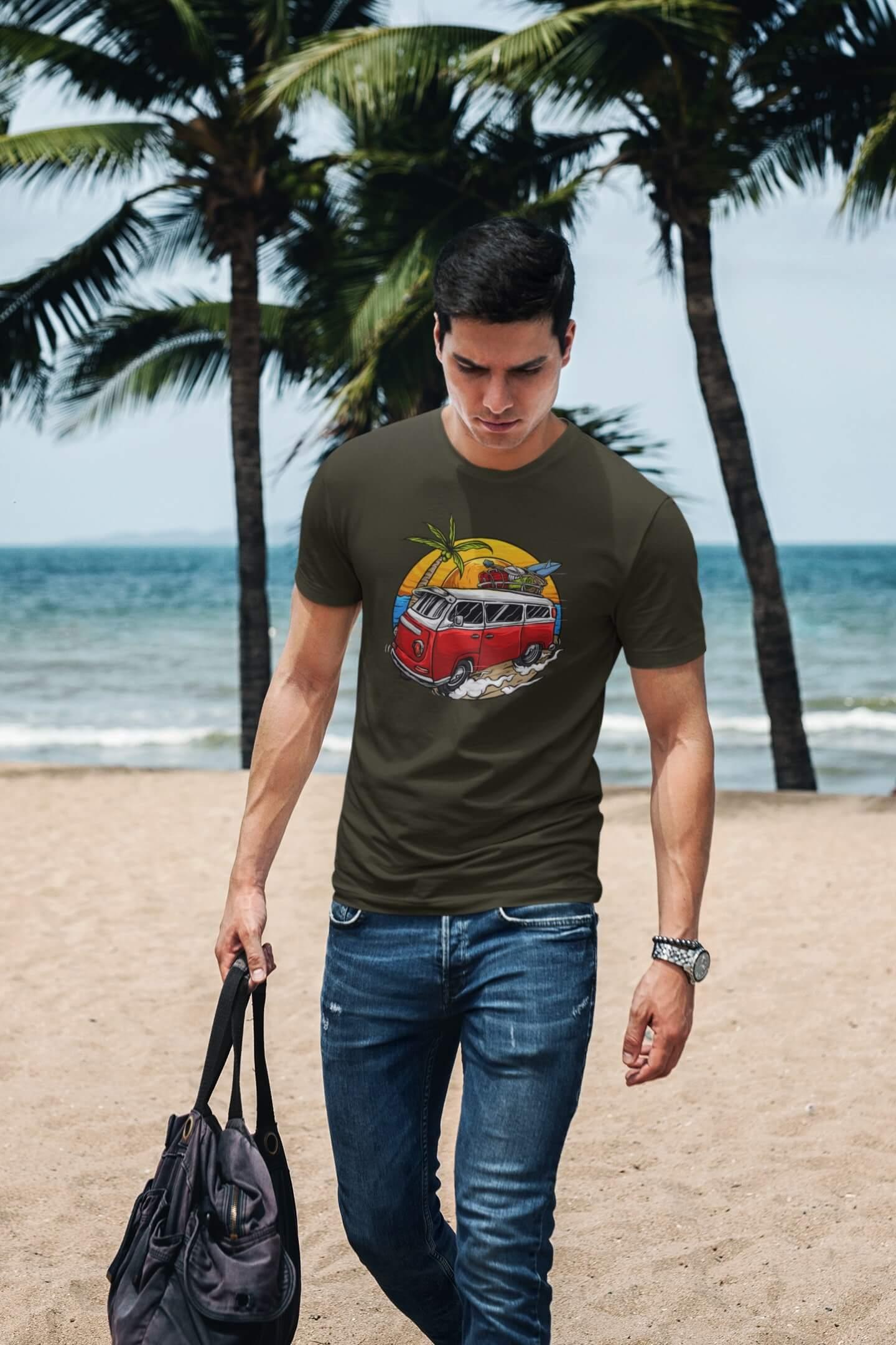 MMO Pánske tričko Minibus Vyberte farbu: Military, Vyberte veľkosť: XS