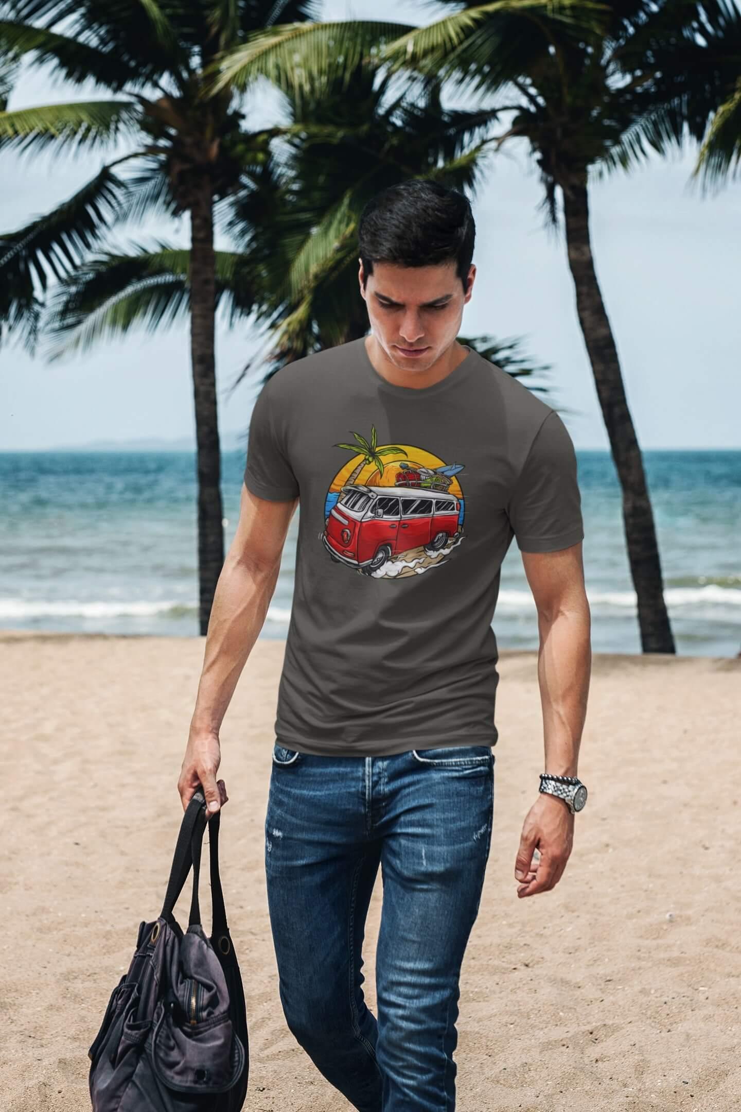 MMO Pánske tričko Minibus Vyberte farbu: Tmavá bridlica, Vyberte veľkosť: XL