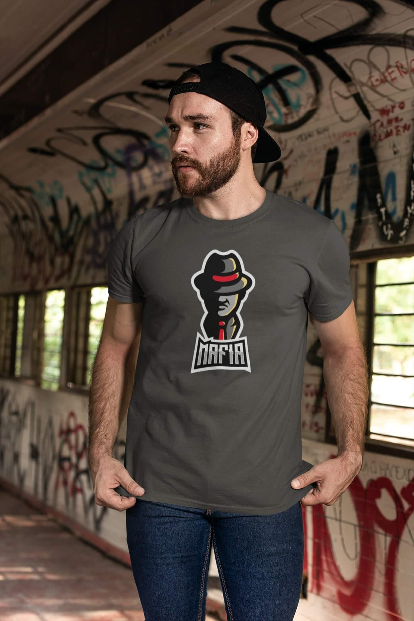 MMO Pánske tričko Mafia Vyberte farbu: Tmavá bridlica, Vyberte veľkosť: XL