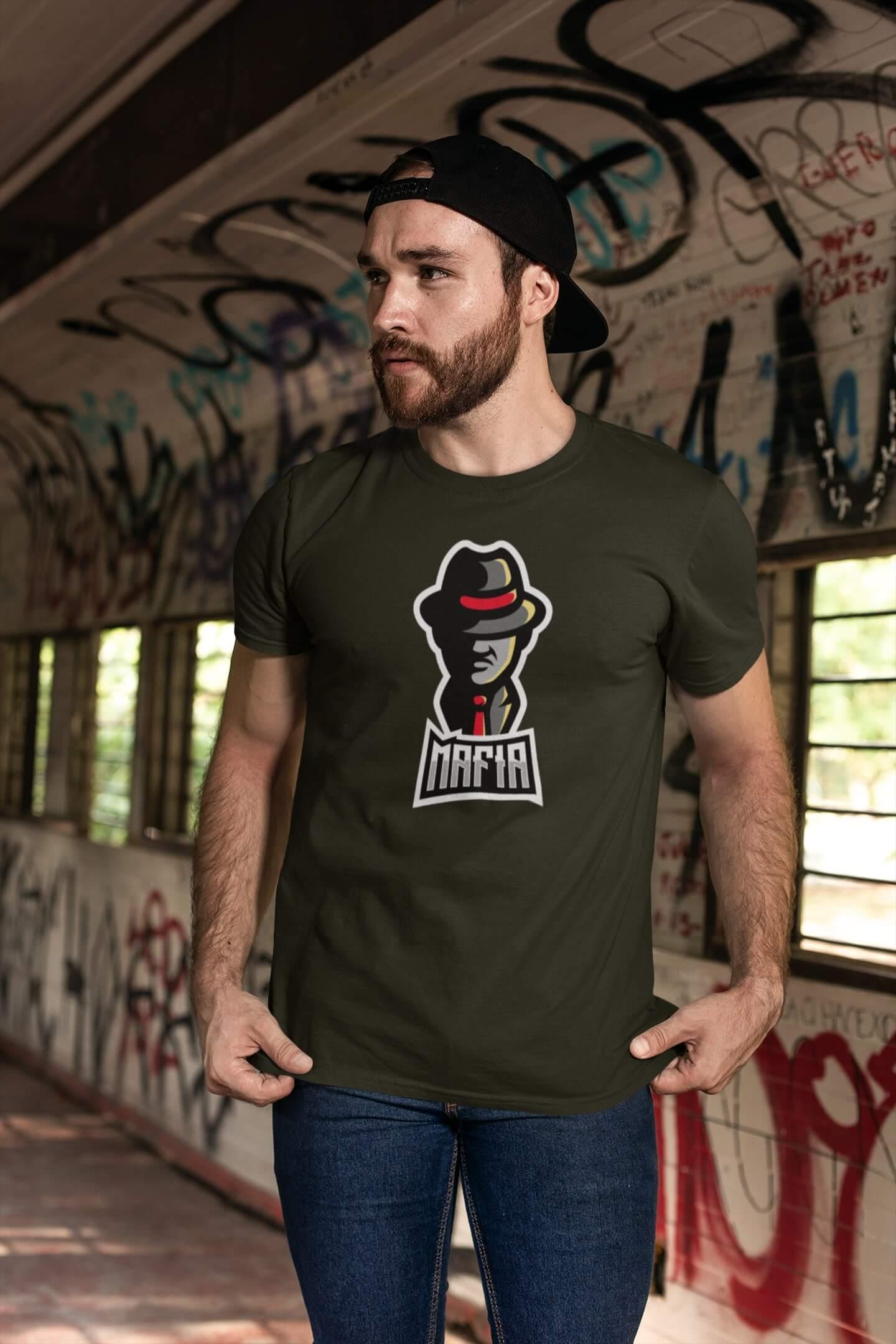 MMO Pánske tričko Mafia Vyberte farbu: Military, Vyberte veľkosť: XS