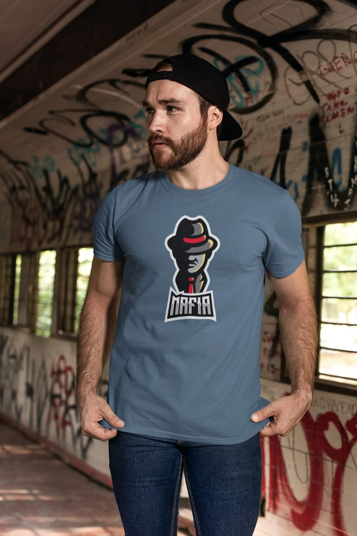 MMO Pánske tričko Mafia Vyberte farbu: Denim, Vyberte veľkosť: XS
