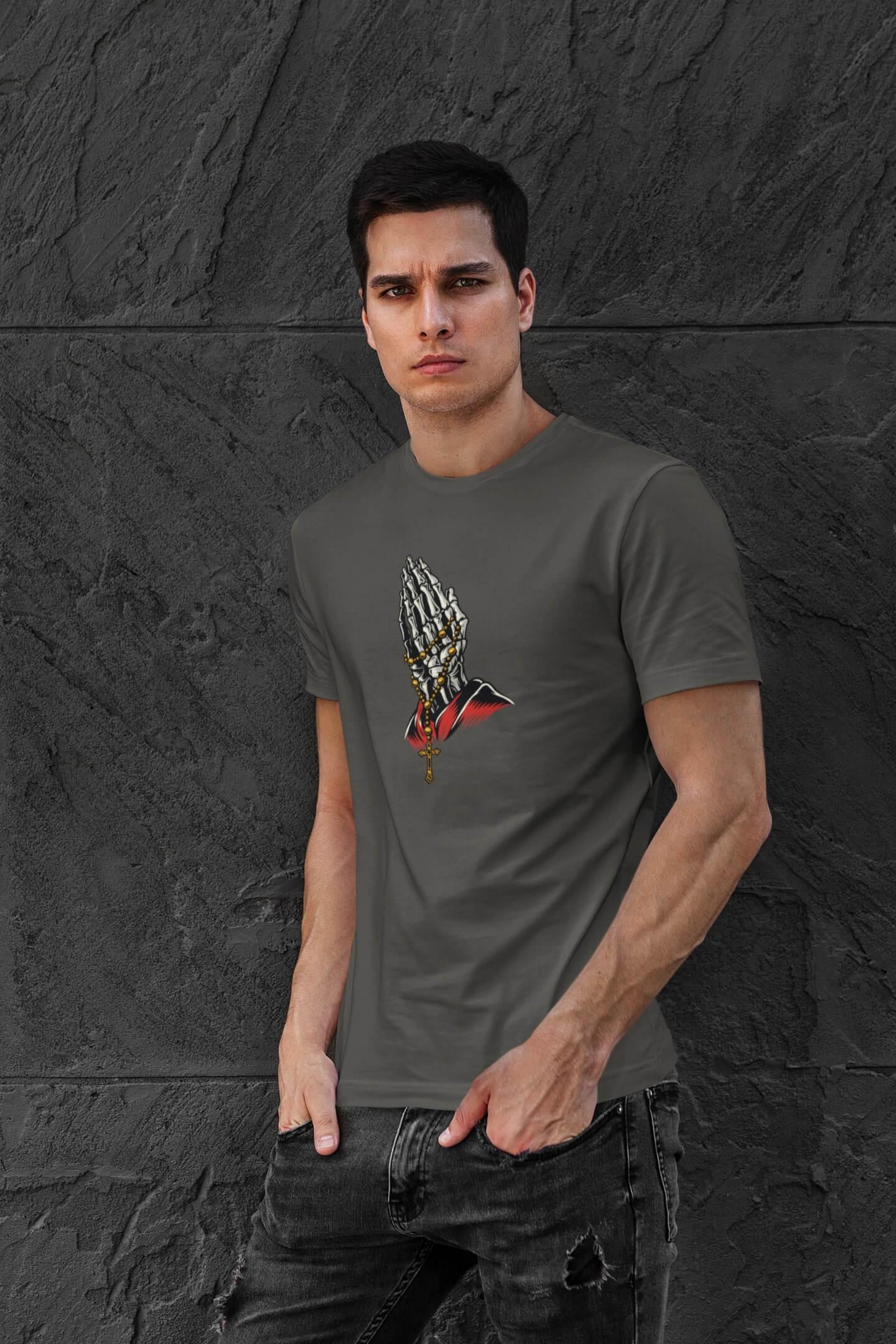 MMO Pánske tričko Ruky Vyberte farbu: Tmavá bridlica, Vyberte veľkosť: L