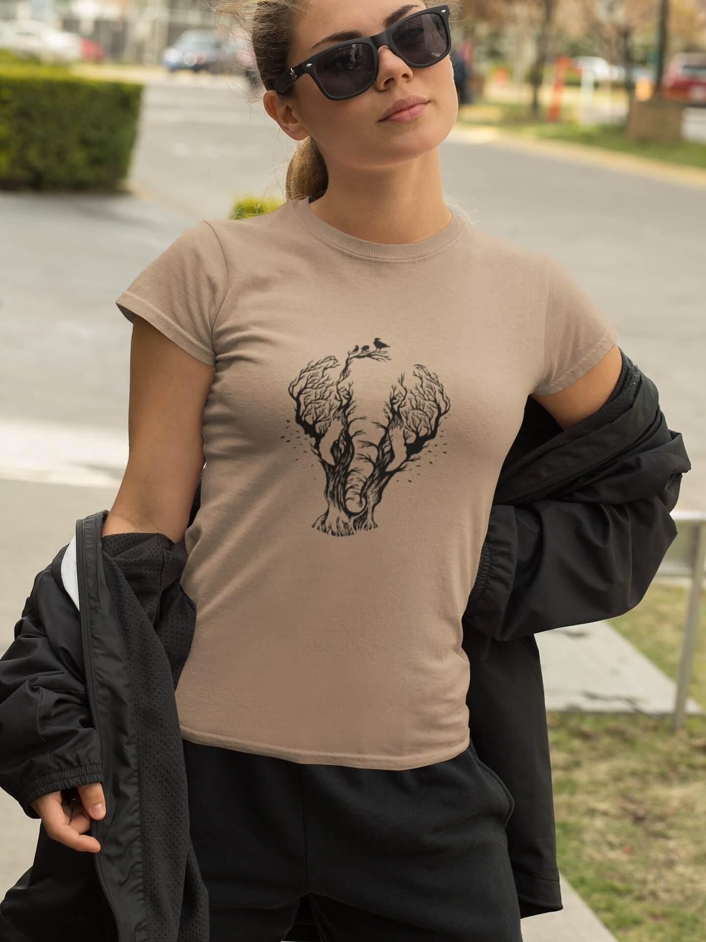 MMO Dámske tričko Slon Vyberte farbu: Červená, Dámska veľkosť: M