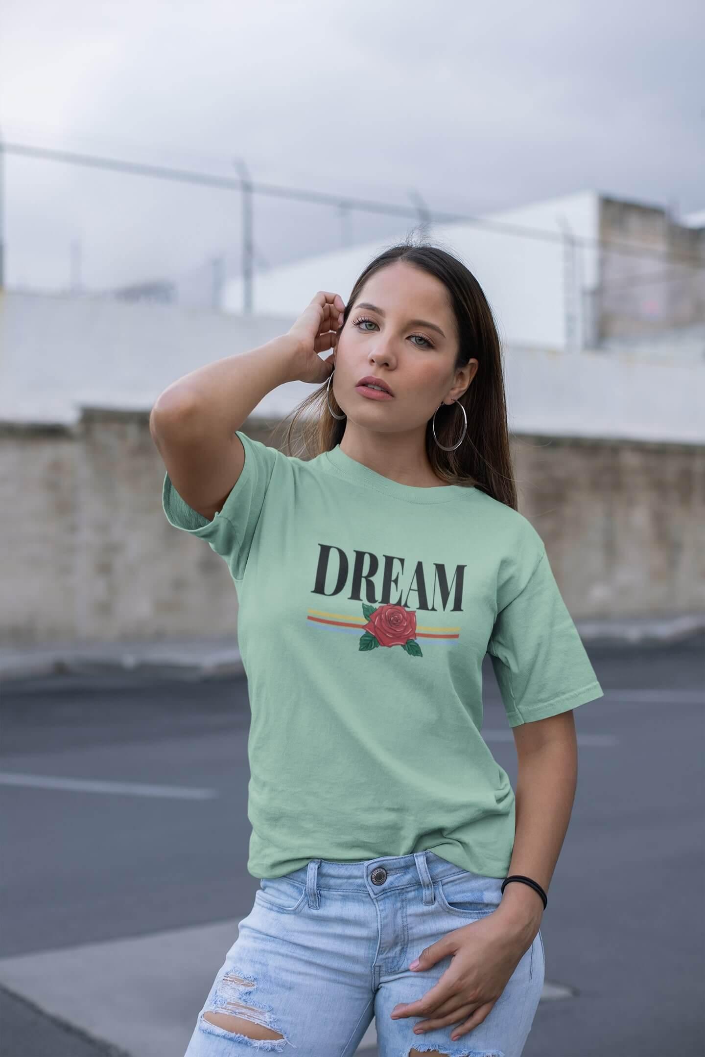 MMO Dámske tričko Dream Vyberte farbu: Mätová, Vyberte veľkosť: M