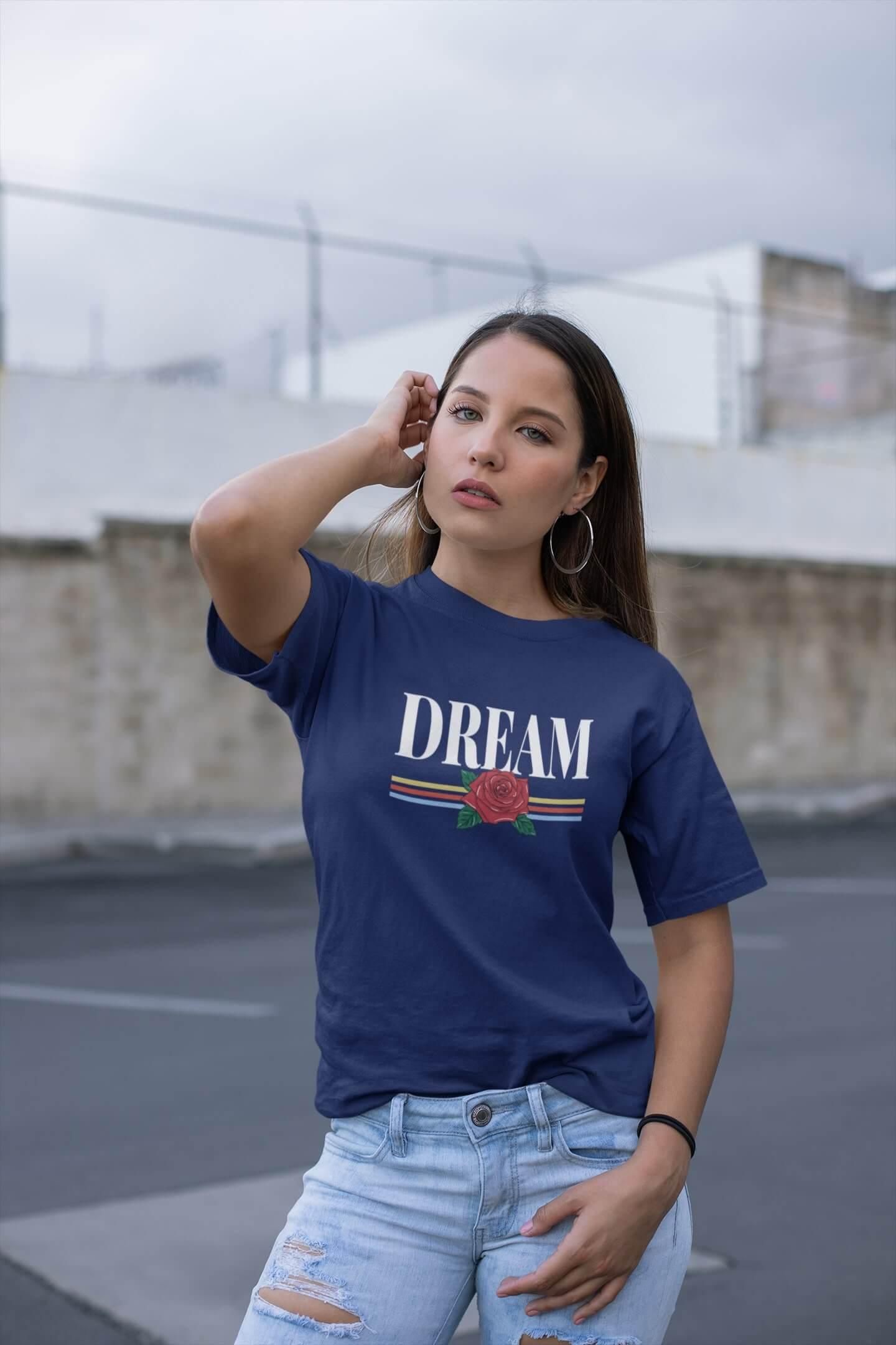 MMO Dámske tričko Dream Vyberte farbu: Polnočná modrá, Vyberte veľkosť: M