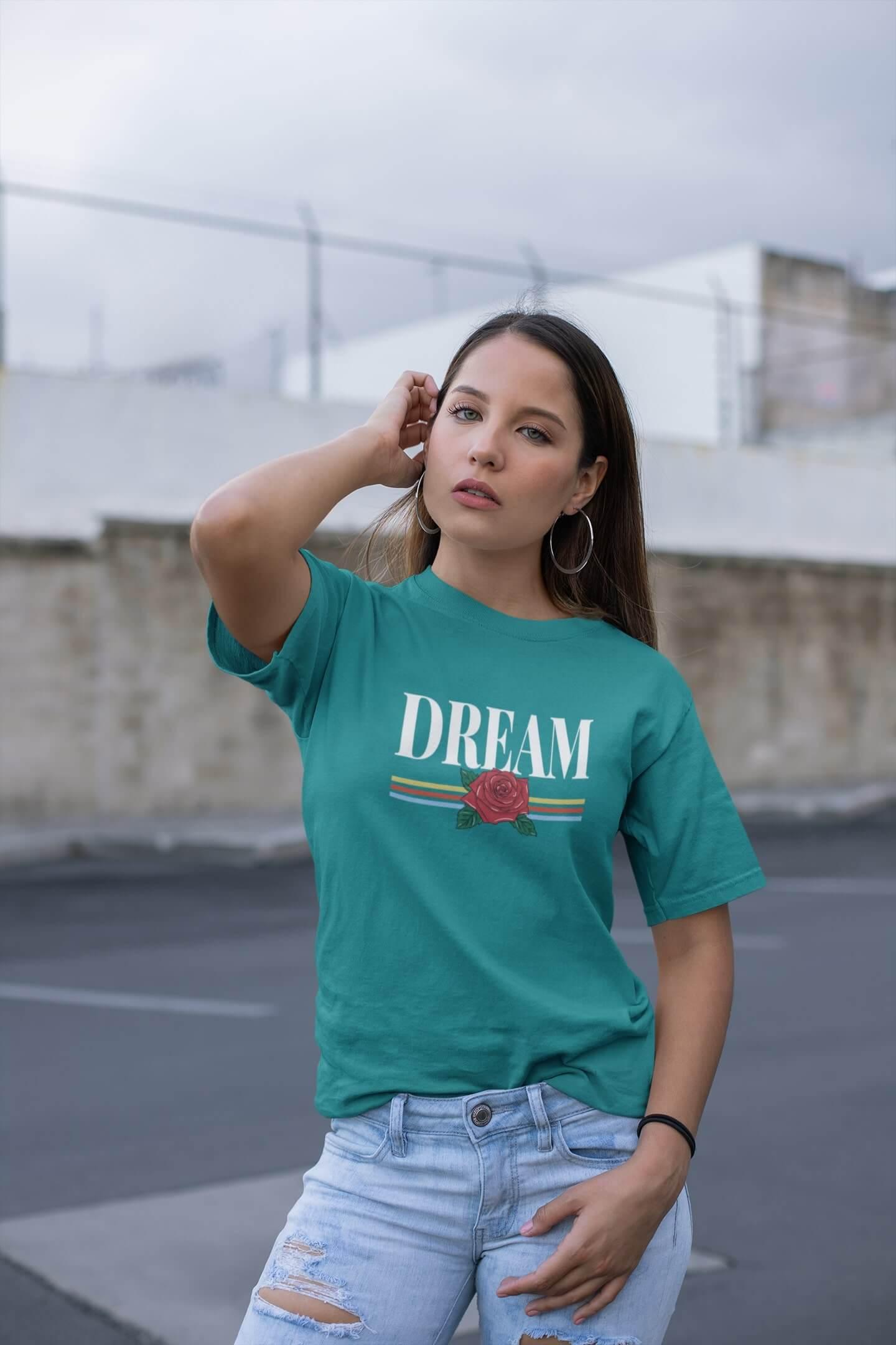 MMO Dámske tričko Dream Vyberte farbu: Smaragdovozelená, Vyberte veľkosť: M