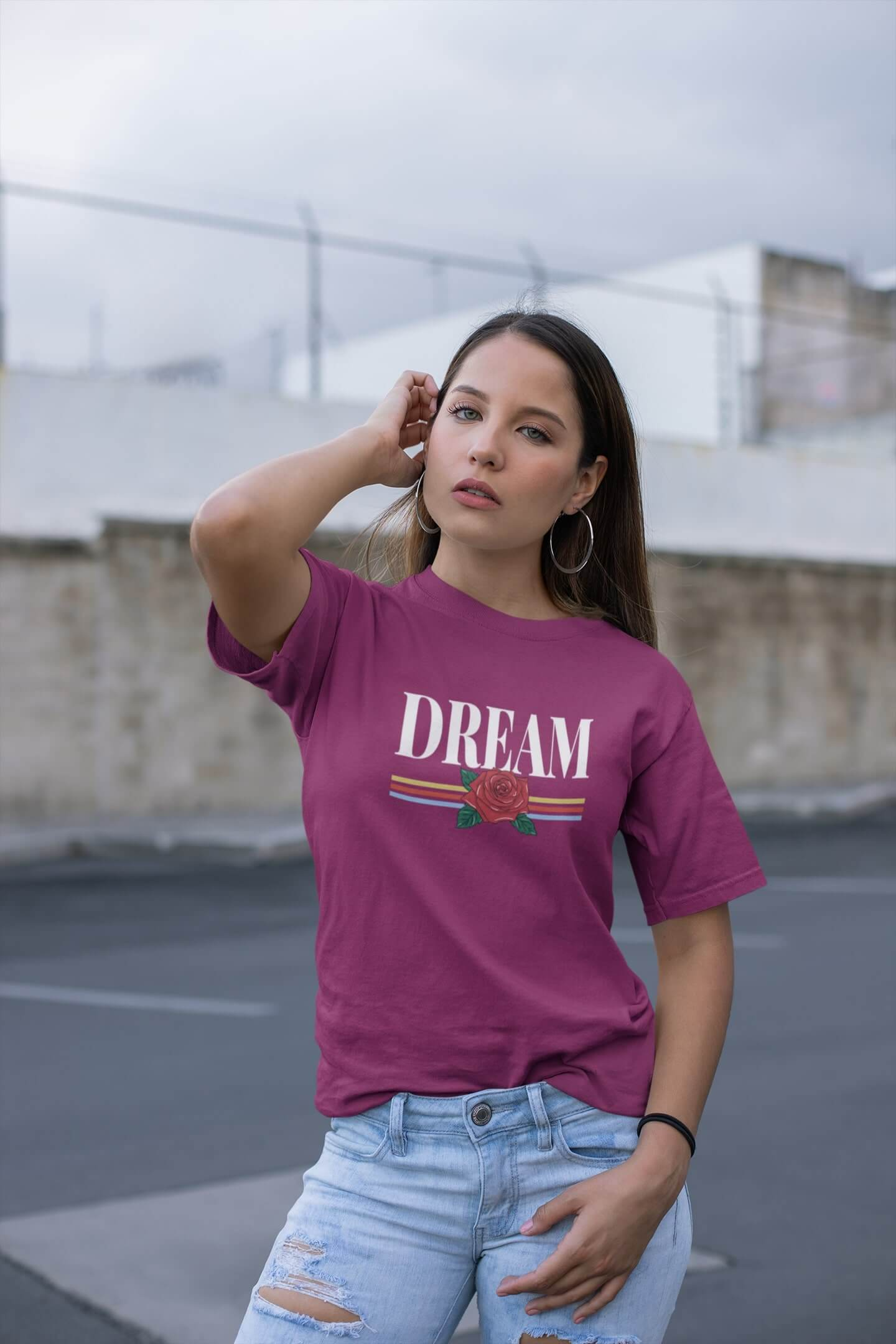 MMO Dámske tričko Dream Vyberte farbu: Fuchsiovo červená, Vyberte veľkosť: L