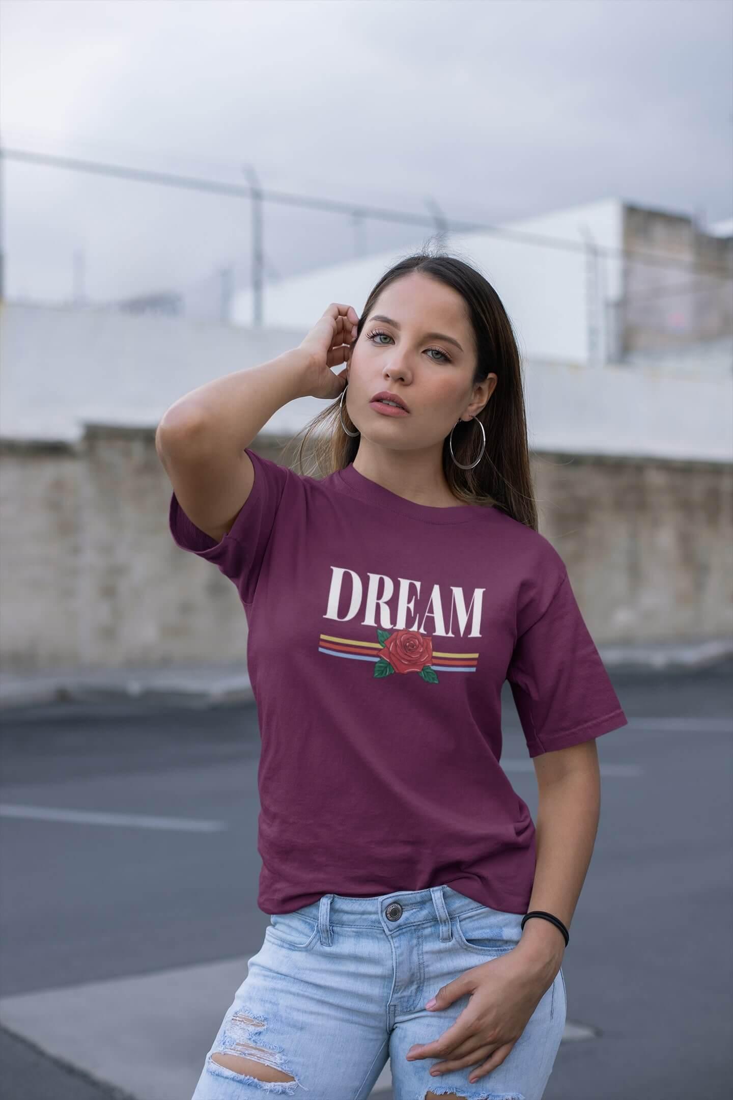 MMO Dámske tričko Dream Vyberte farbu: Fuchsiová, Vyberte veľkosť: M
